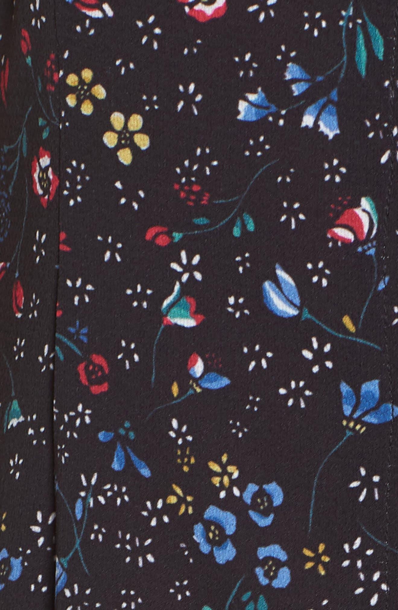 FRENCH CONNECTION,                             Aubine Fluid Slip Dress,                             Alternate thumbnail 5, color,                             002
