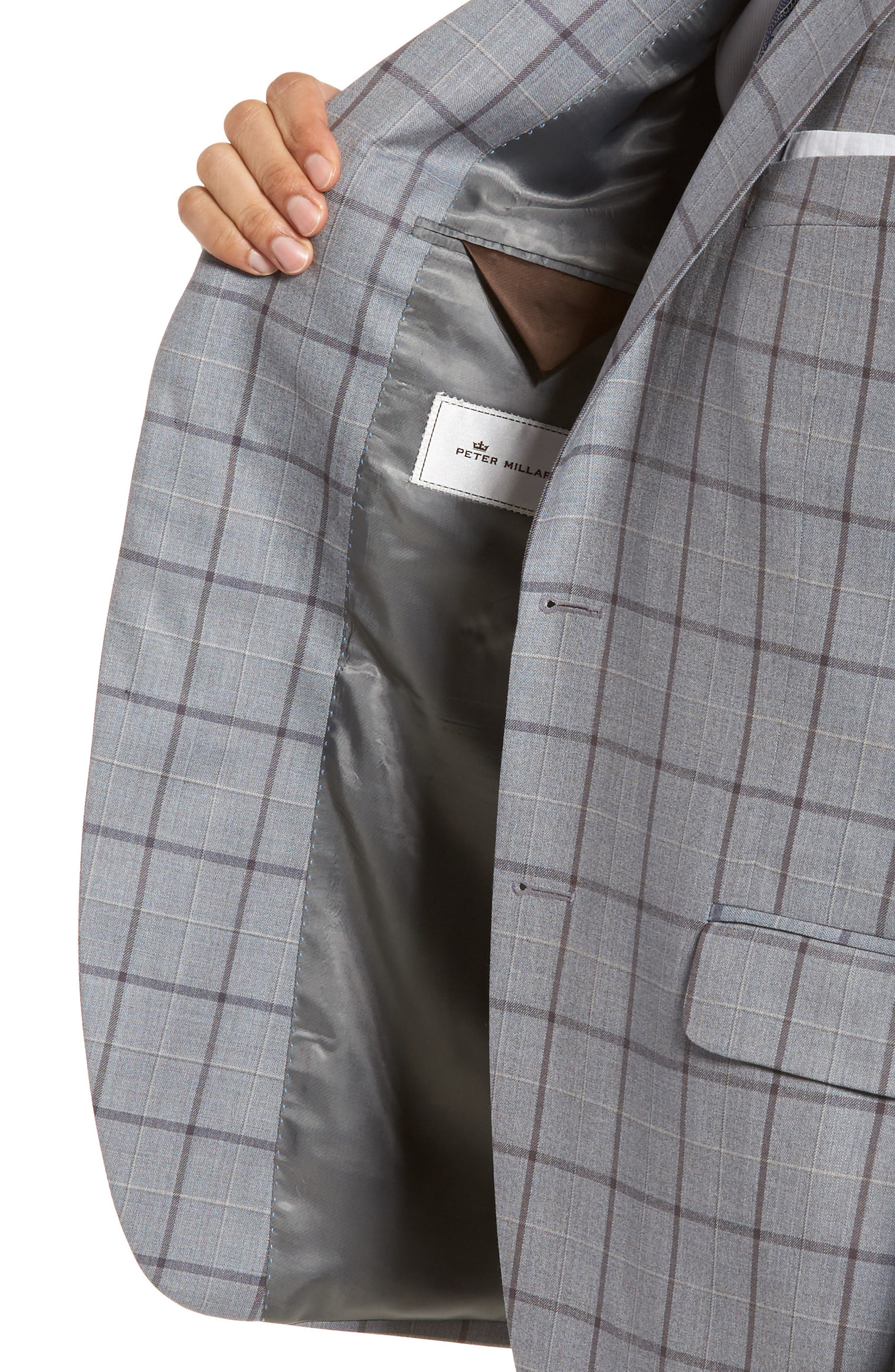 Classic Fit Windowpane Wool Sport Coat,                             Alternate thumbnail 4, color,                             020