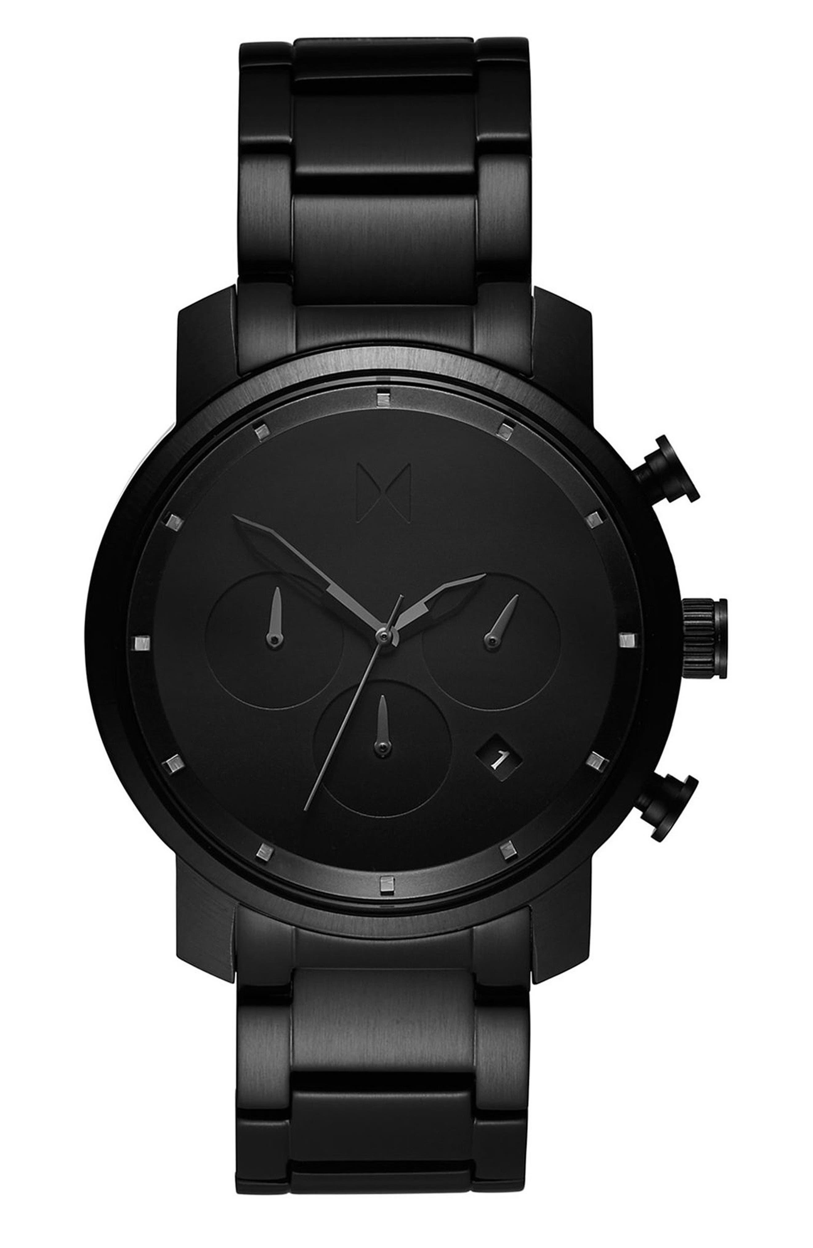 Chrono Chronograph Bracelet Watch, 40mm,                         Main,                         color, ALL BLACK
