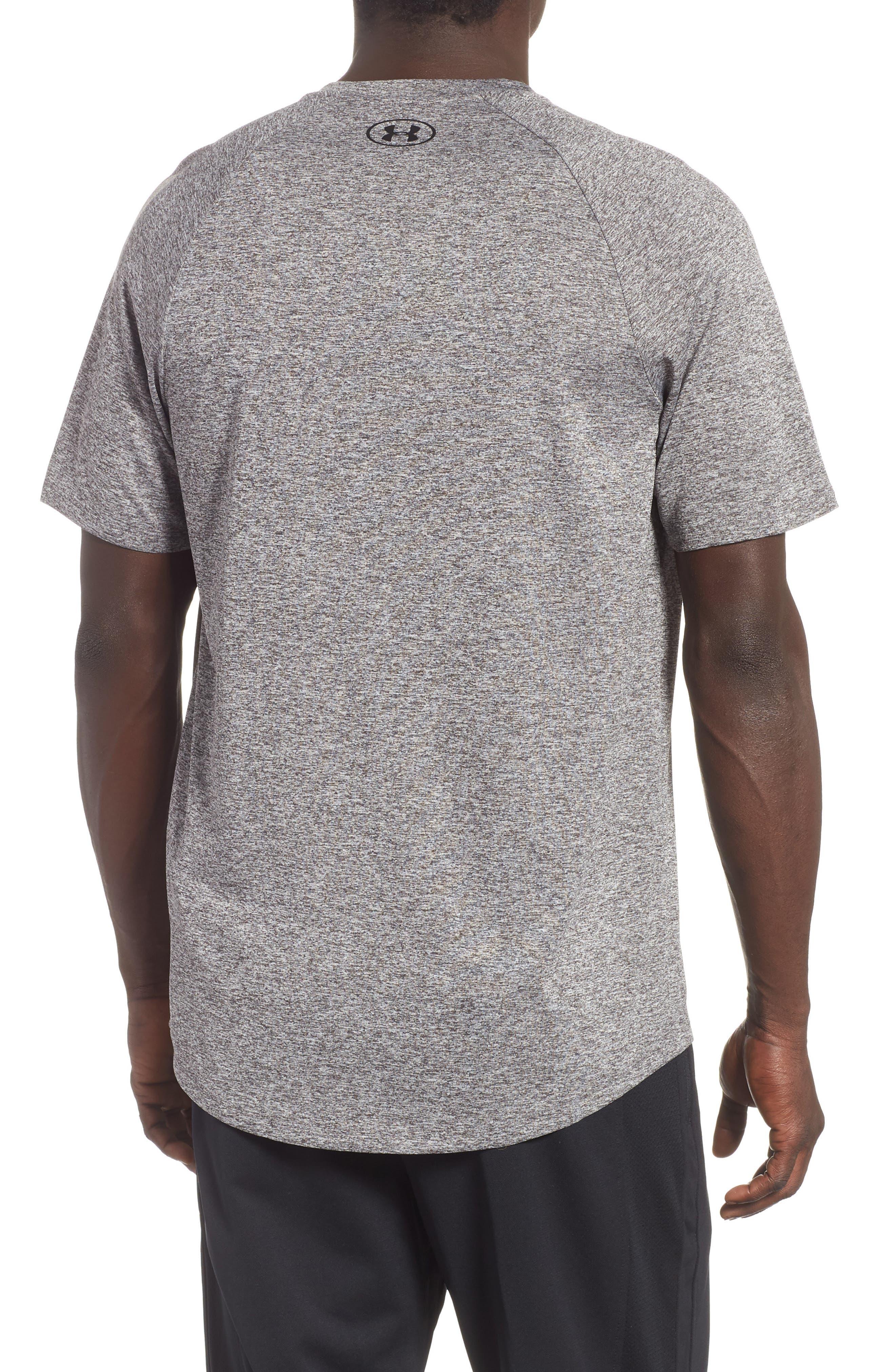 UA Tech<sup>™</sup> T-Shirt,                             Alternate thumbnail 2, color,                             CHARCOAL LIGHT HEATHER