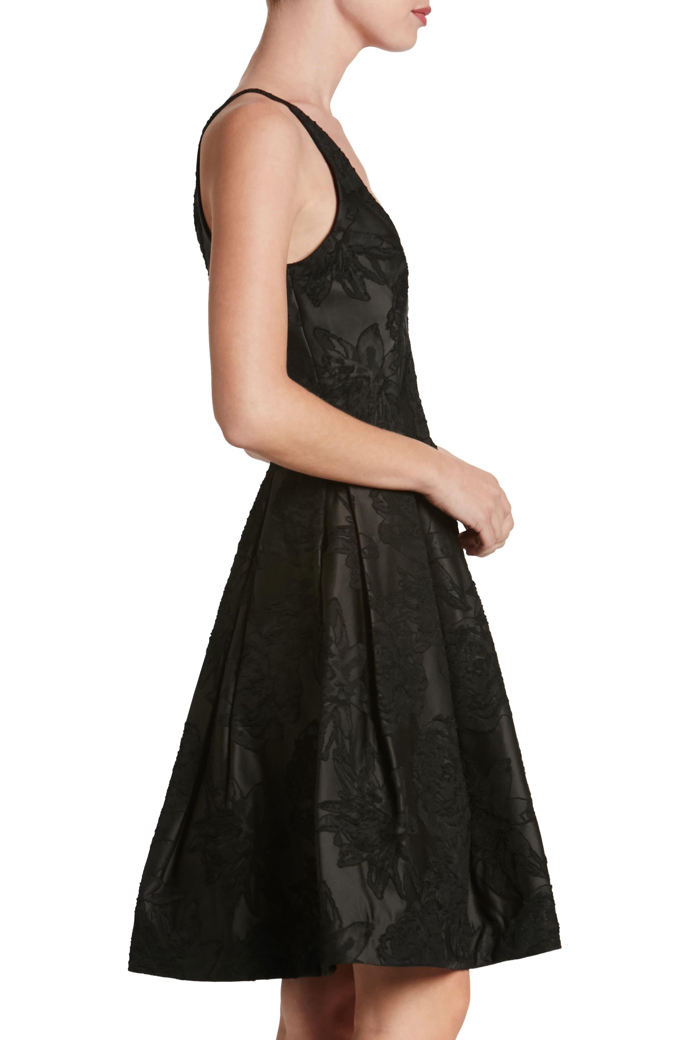 Collette Fit & Flare Dress,                             Alternate thumbnail 3, color,