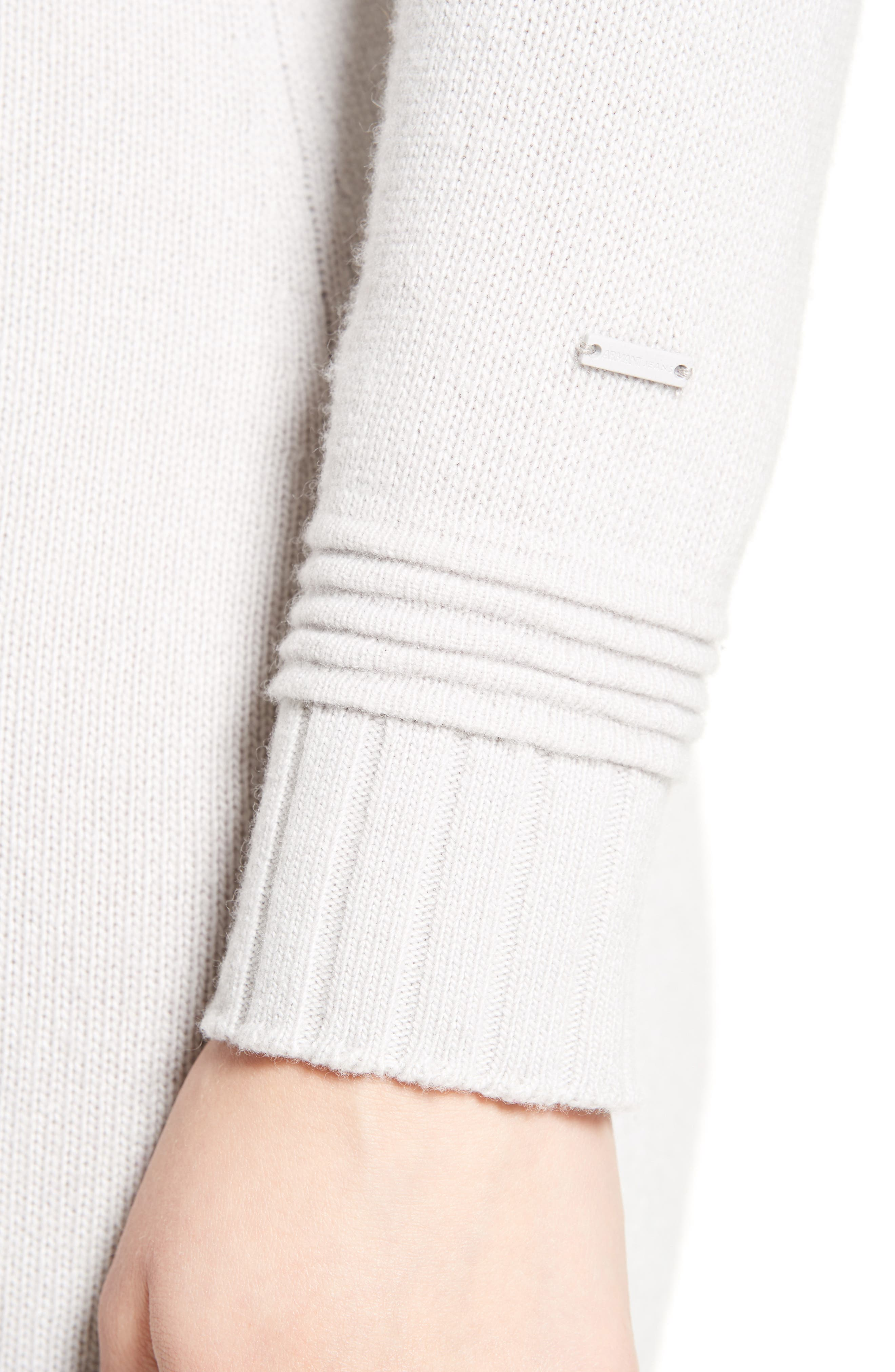 Armani Jeans Knit Sweater Dress,                             Alternate thumbnail 4, color,