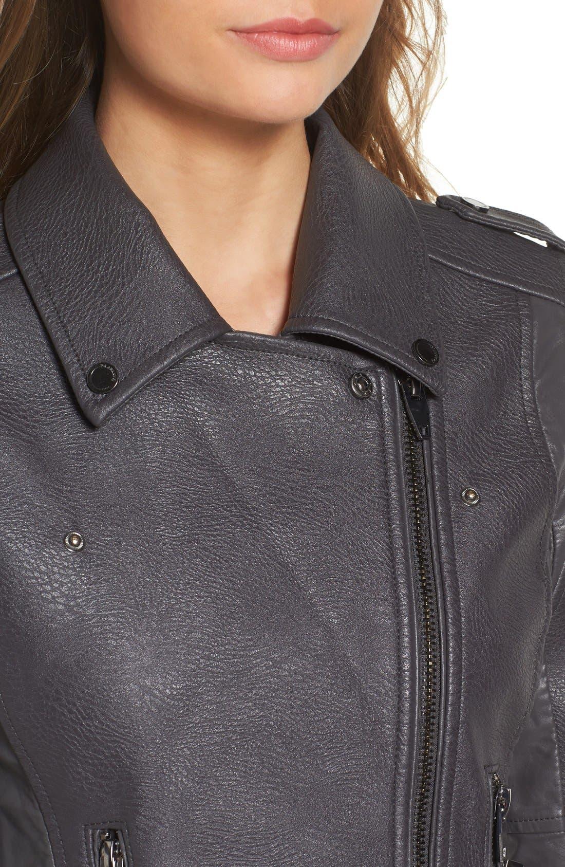 'Easy Rider' Faux Leather Moto Jacket,                             Alternate thumbnail 21, color,