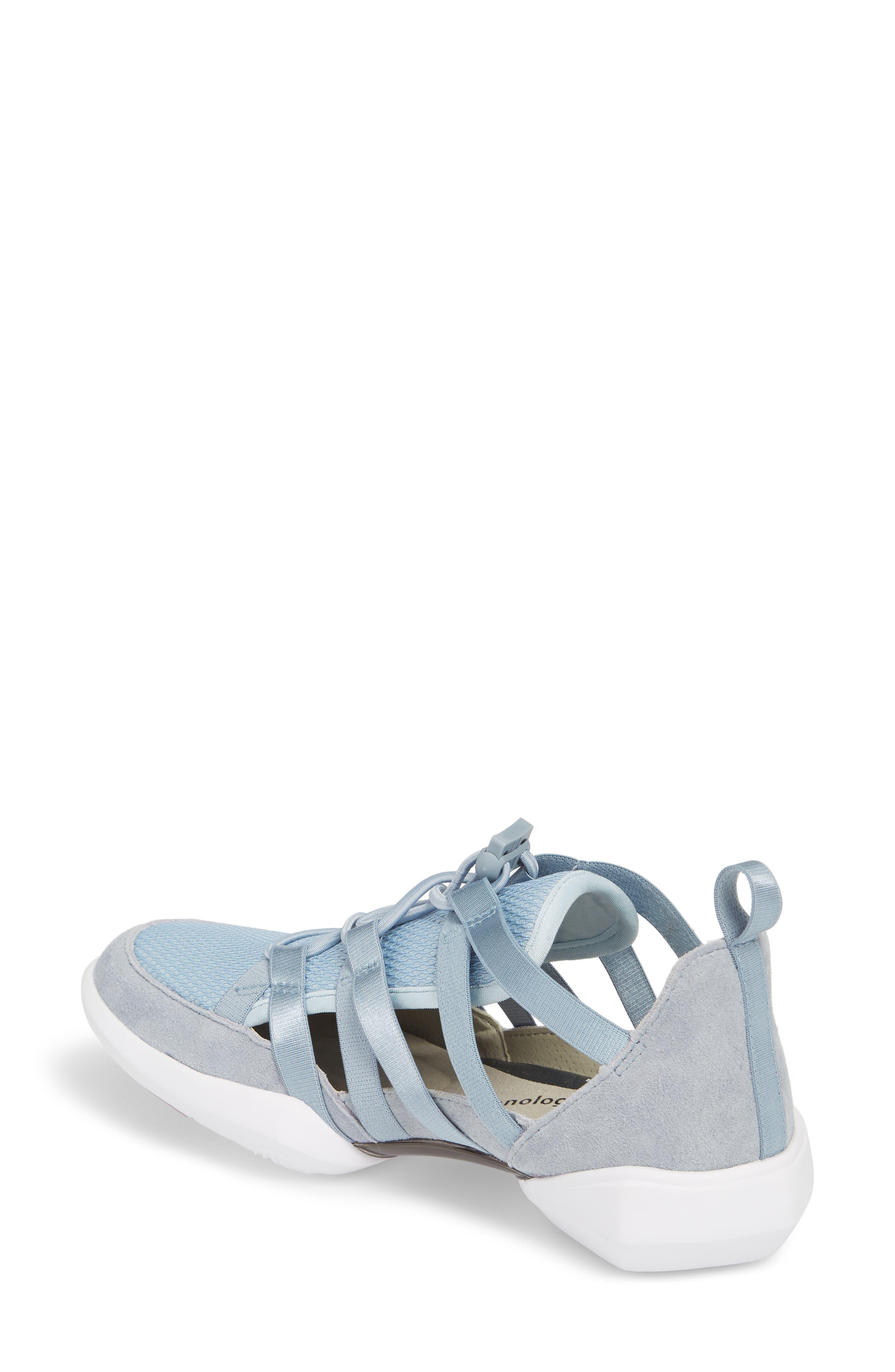 Azalea Sneaker,                             Alternate thumbnail 2, color,                             BLUE LEATHER