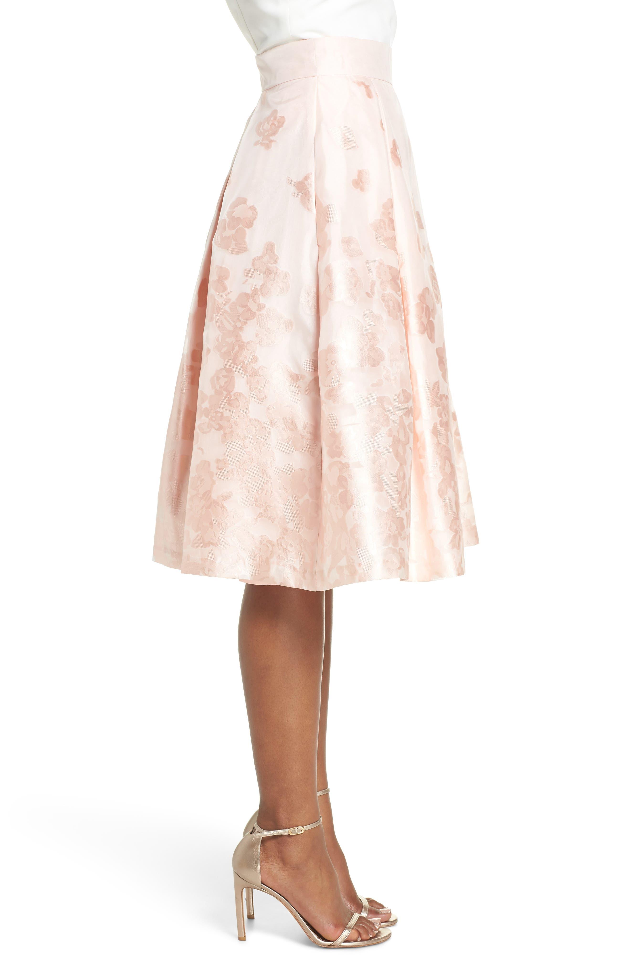 Jacquard A-Line Skirt,                             Alternate thumbnail 3, color,                             BLUSH