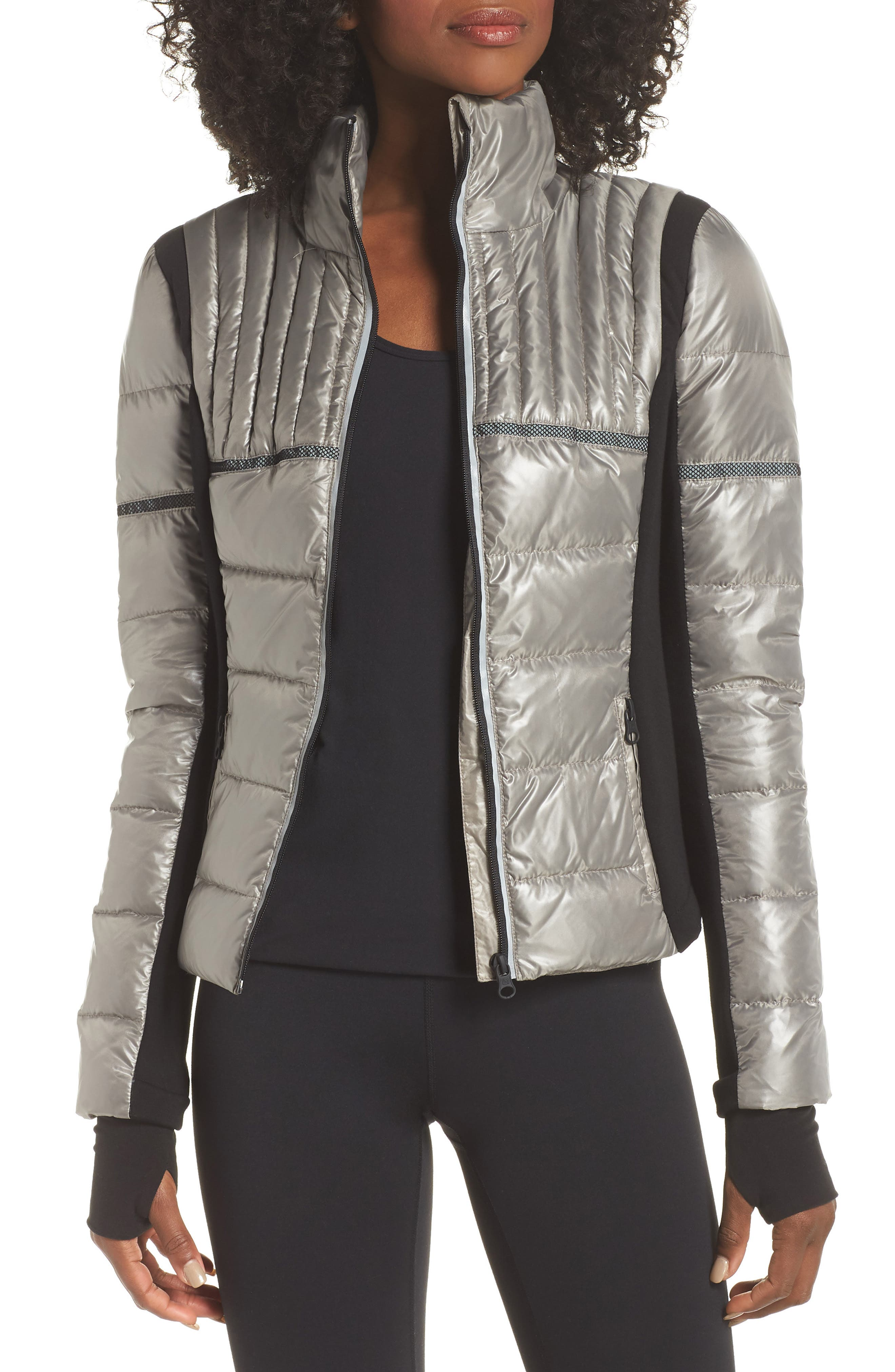 Blanc Noir Reflective Feather Weight Down Jacket, Grey