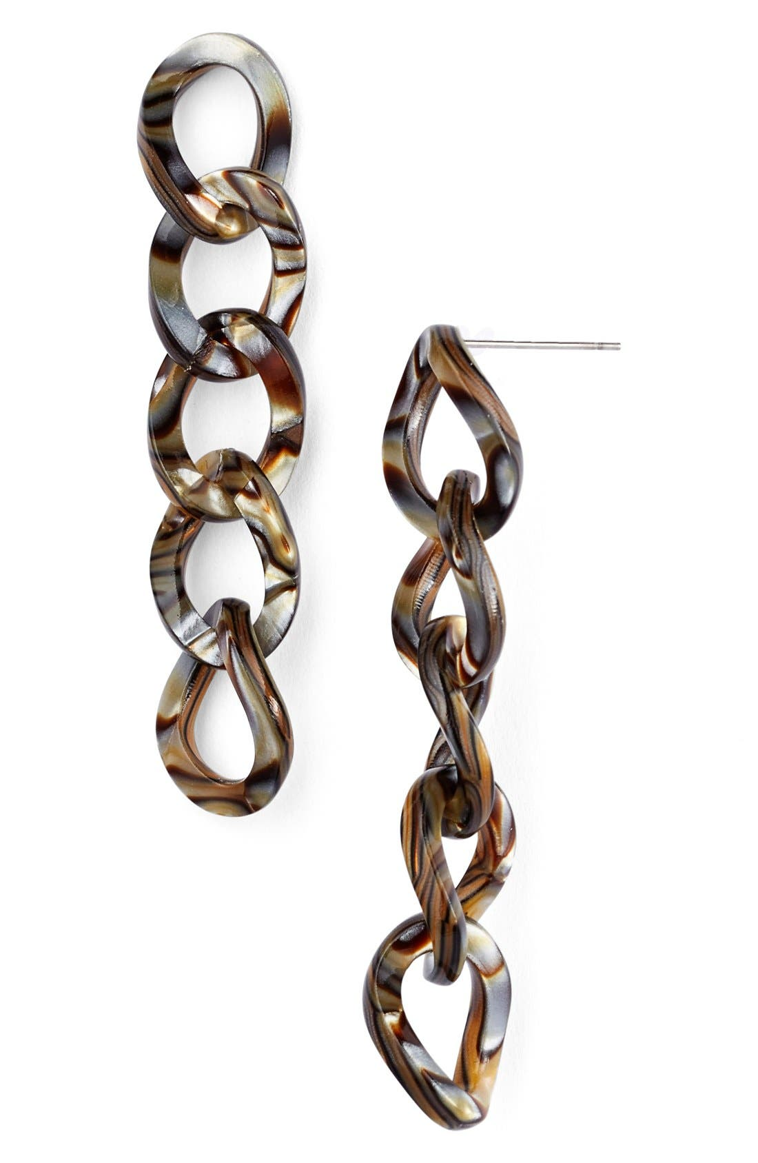 'Linear' Link Drop Earrings,                             Main thumbnail 4, color,