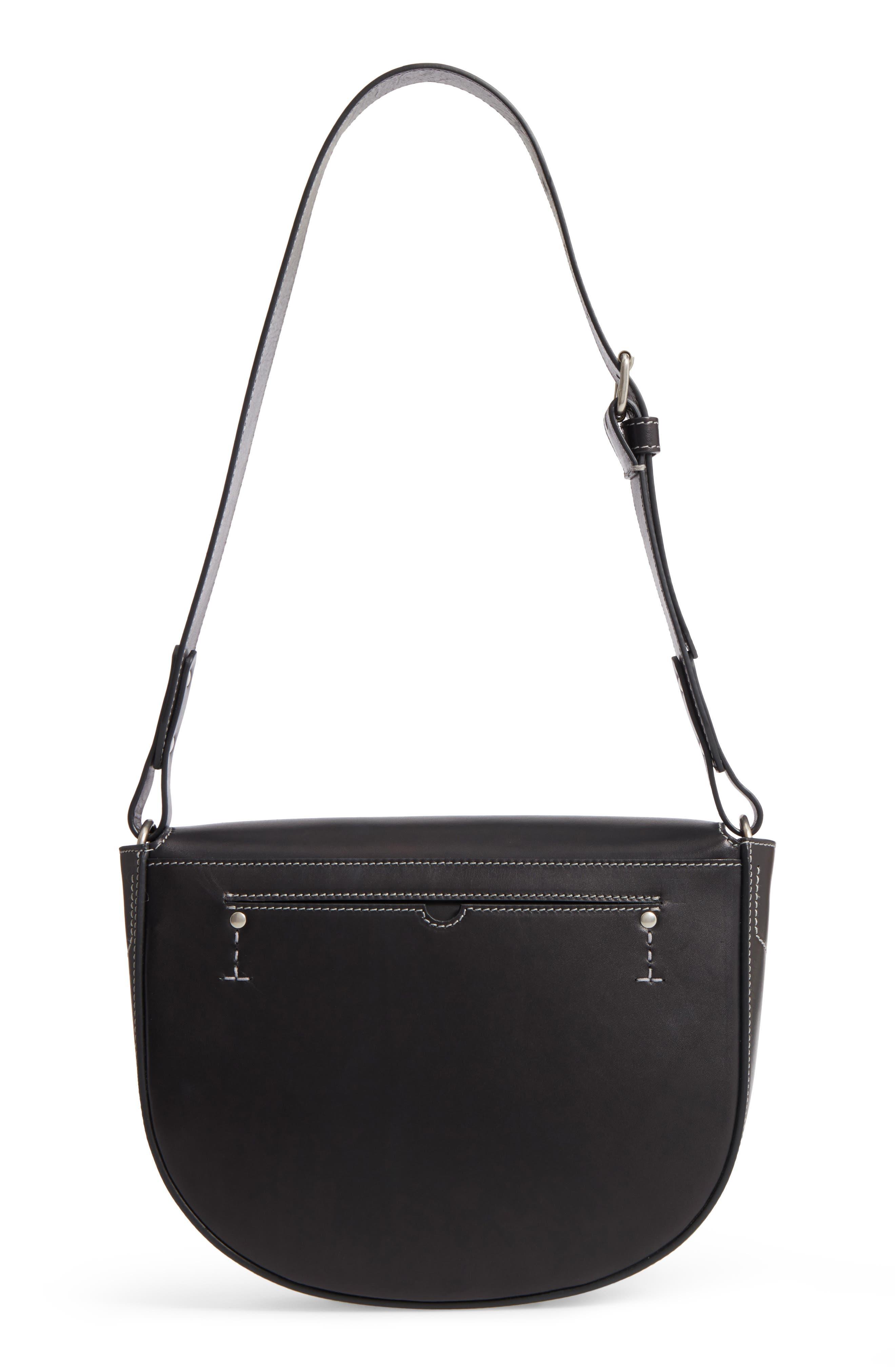 Marlow II Leather Shoulder Bag,                             Alternate thumbnail 3, color,                             001
