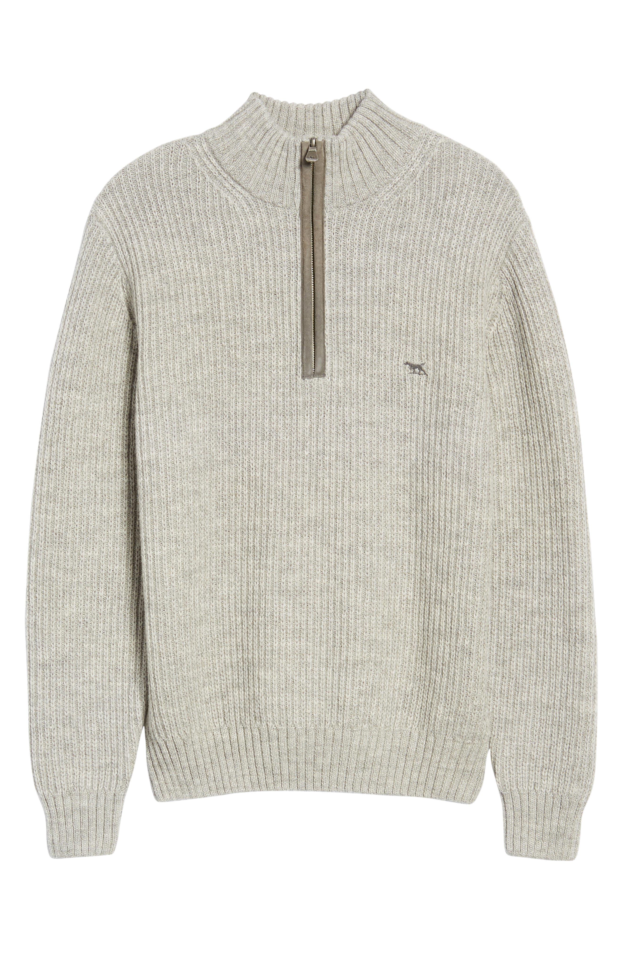 'Huka Lodge' Merino Wool Blend Quarter Zip Sweater,                             Alternate thumbnail 6, color,                             268