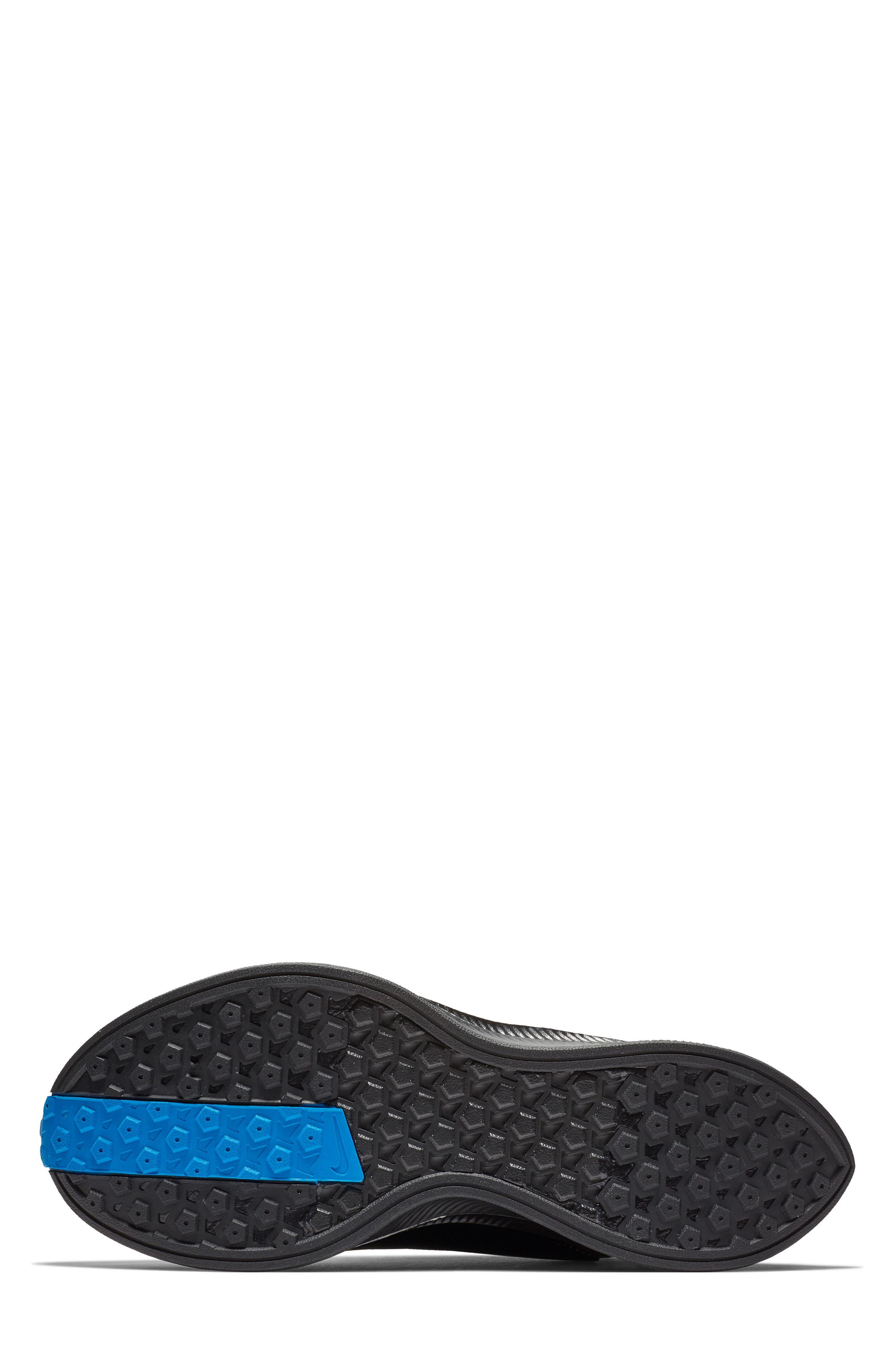 Zoom Pegasus Turbo XX Running Shoe,                             Alternate thumbnail 5, color,                             BLACK/ BLACK/ COBALT BLAZE