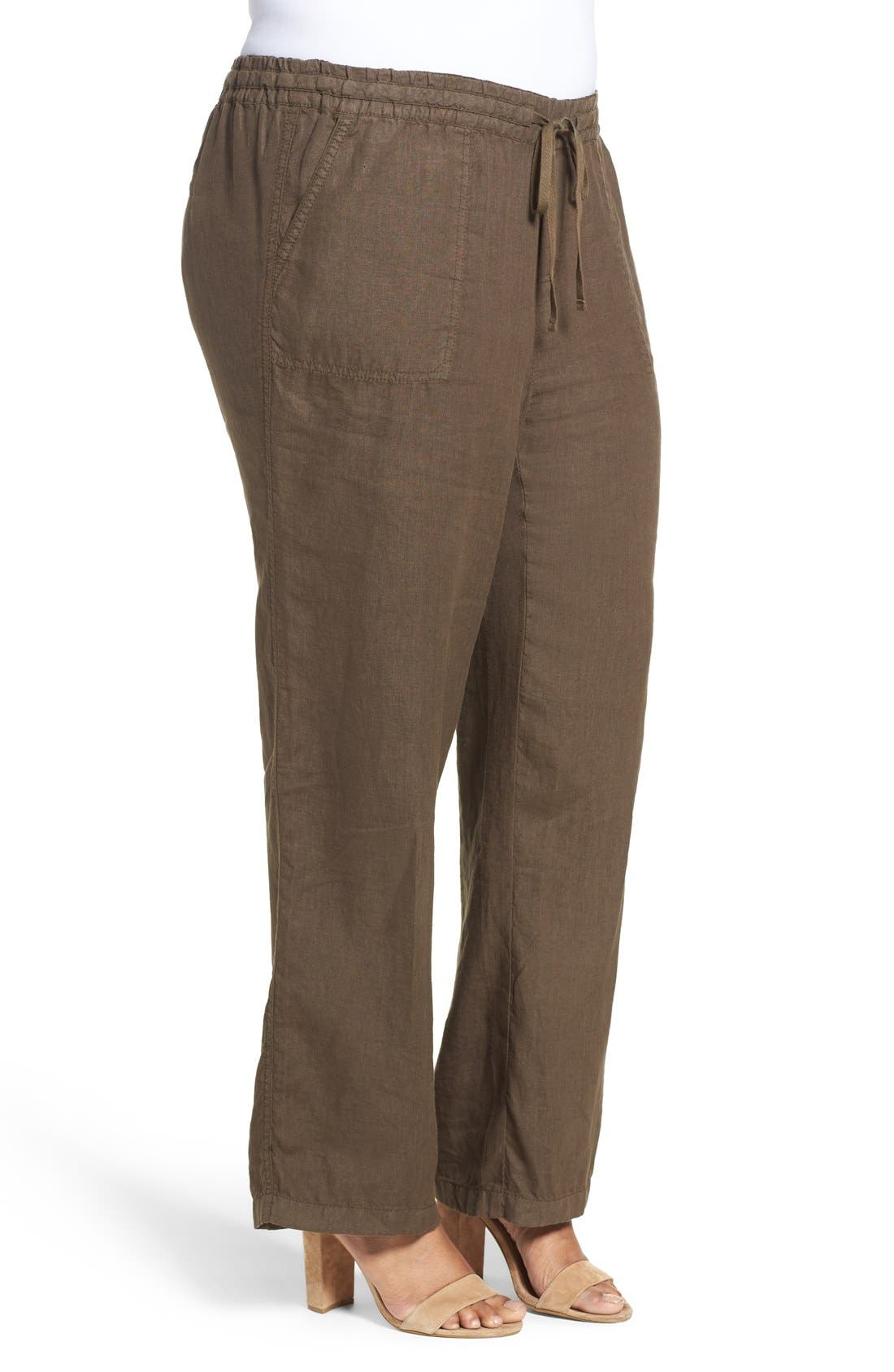 Drawstring Linen Pants,                             Alternate thumbnail 52, color,