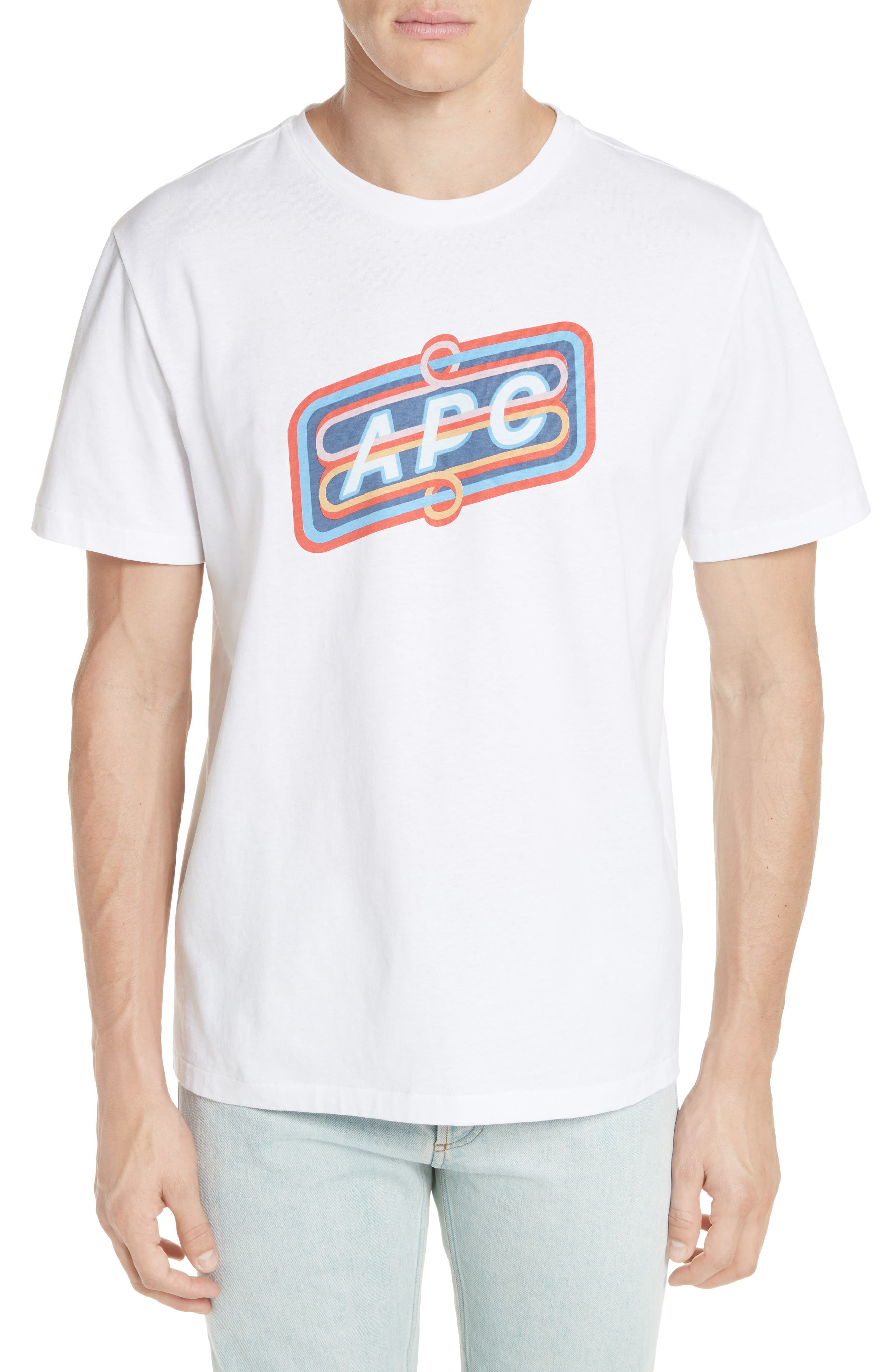 Bastien Logo Graphic T-Shirt,                         Main,                         color, WHITE