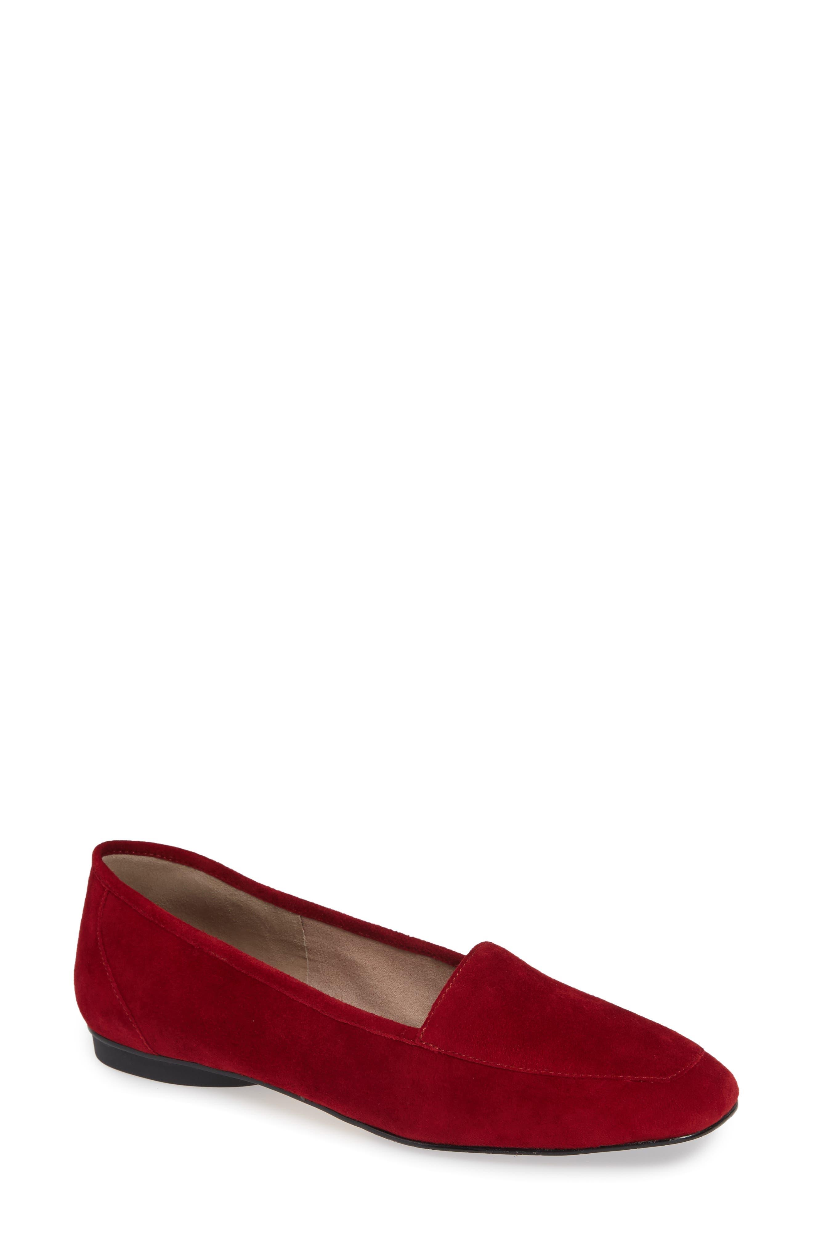 Donald Pliner Deedee Apron Toe Flat, Red