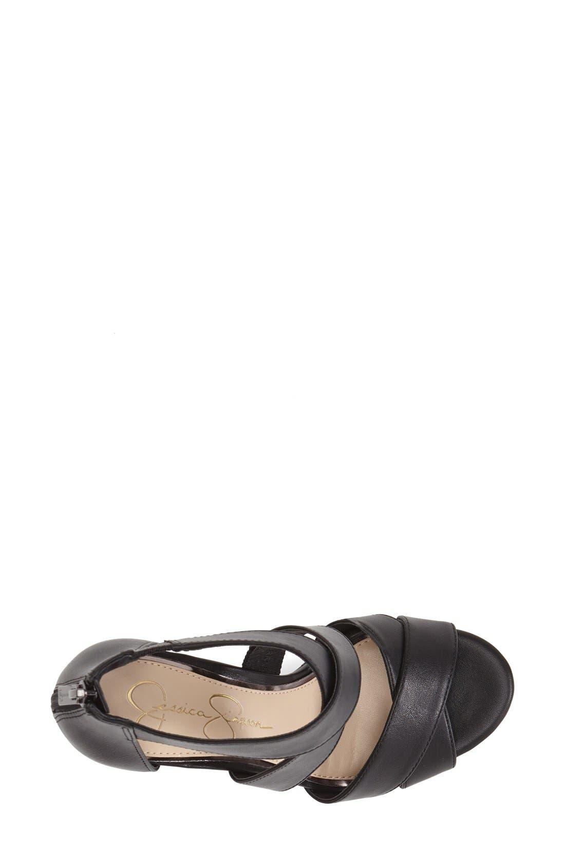 'Jadyn' Strappy Wedge Sandal,                             Alternate thumbnail 2, color,                             001