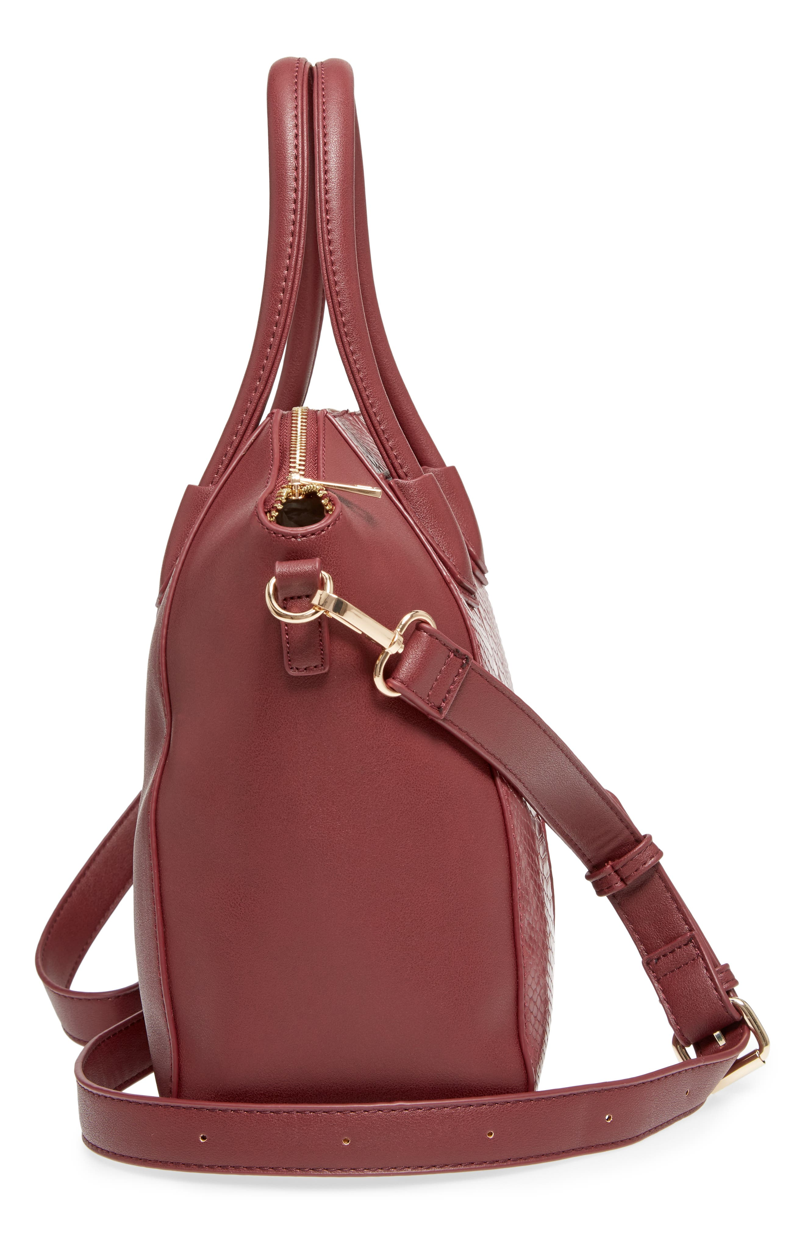 Chase Faux Leather Satchel,                             Alternate thumbnail 15, color,