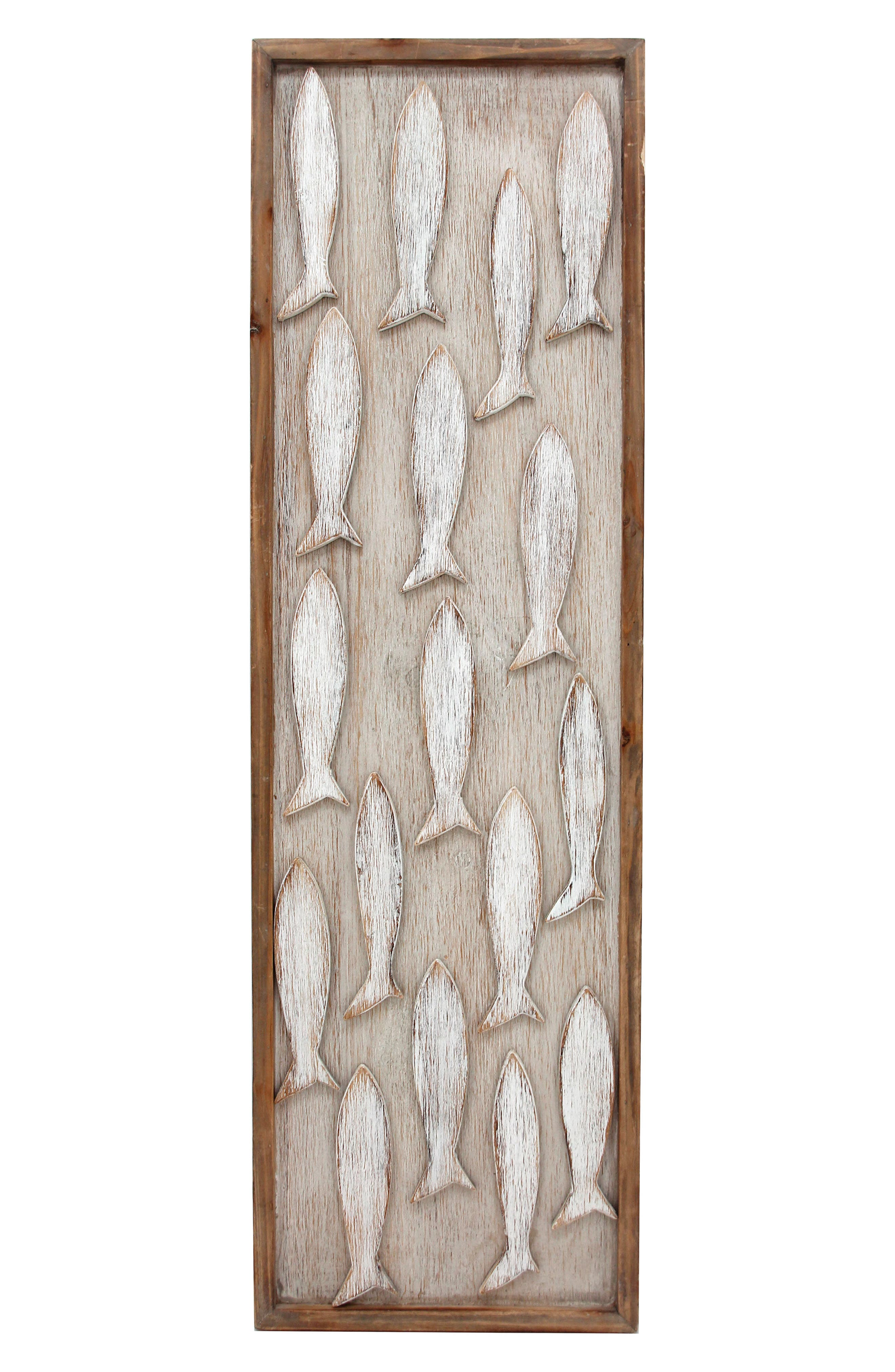 Catch of the Day Wood Wall Art,                             Main thumbnail 1, color,                             100