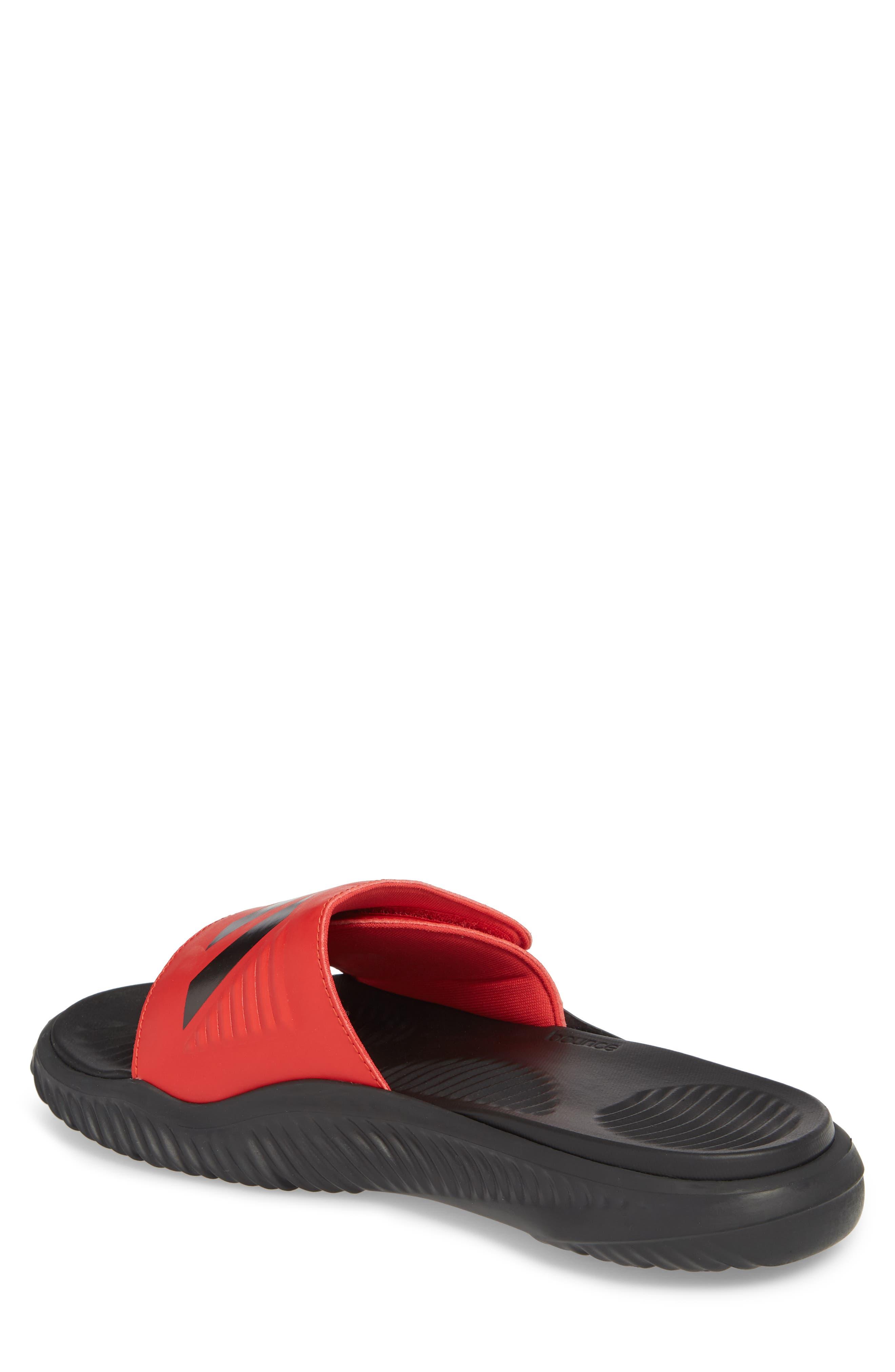 AlphaBounce Slide Sandal,                             Alternate thumbnail 2, color,                             SCARLET/ BLACK