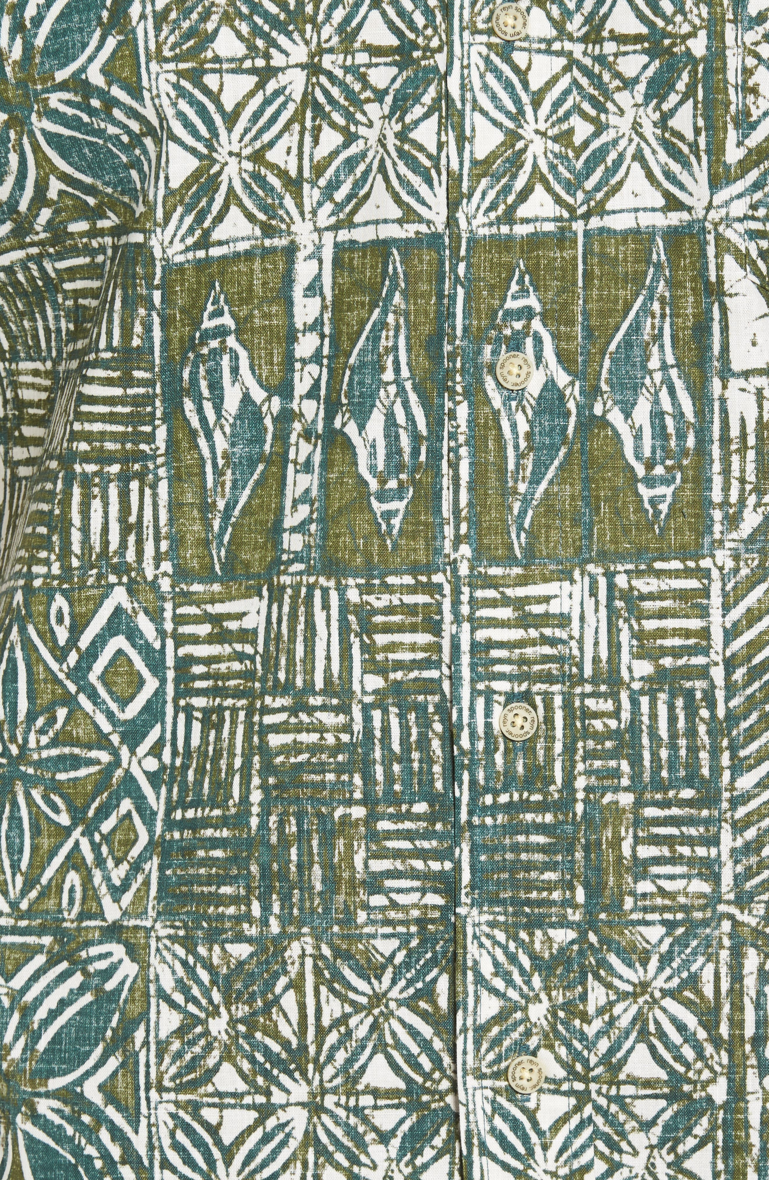 Leho Kapa Classic Fit Sport Shirt,                             Alternate thumbnail 5, color,                             315
