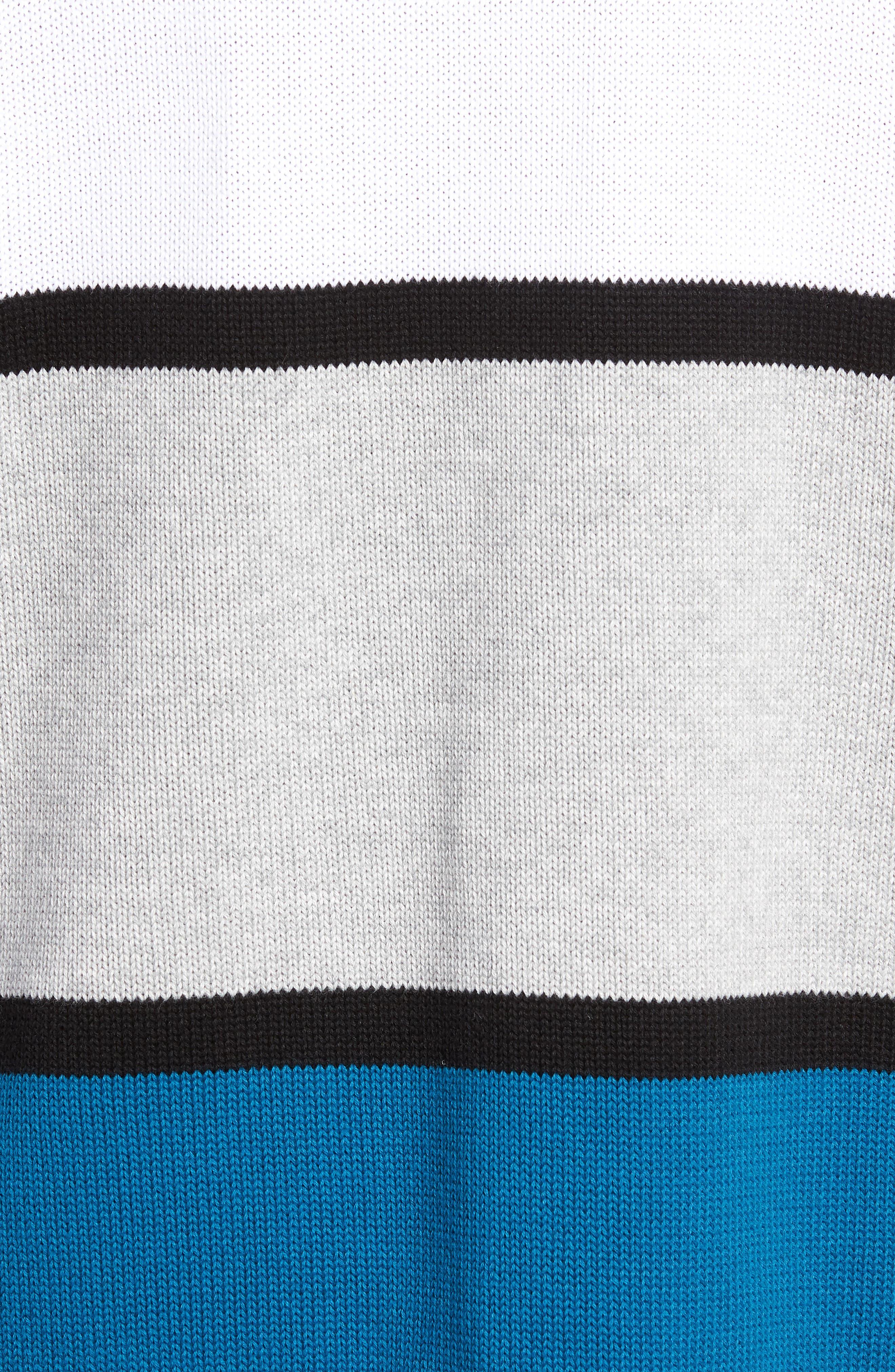 Retro Colorblock Sweater,                             Alternate thumbnail 5, color,                             400