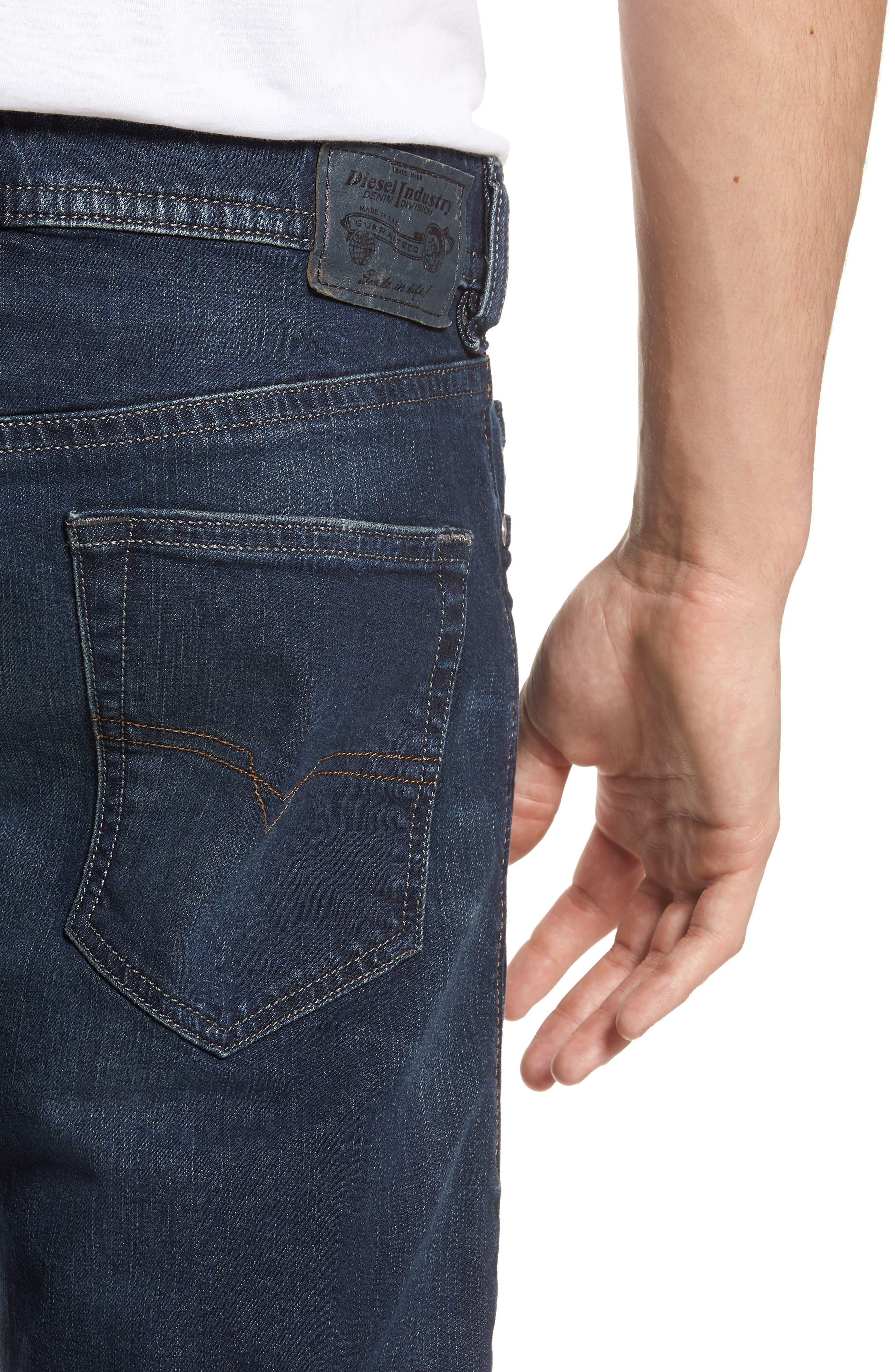 Buster Slim Straight Leg Jeans,                             Alternate thumbnail 4, color,                             BLUE