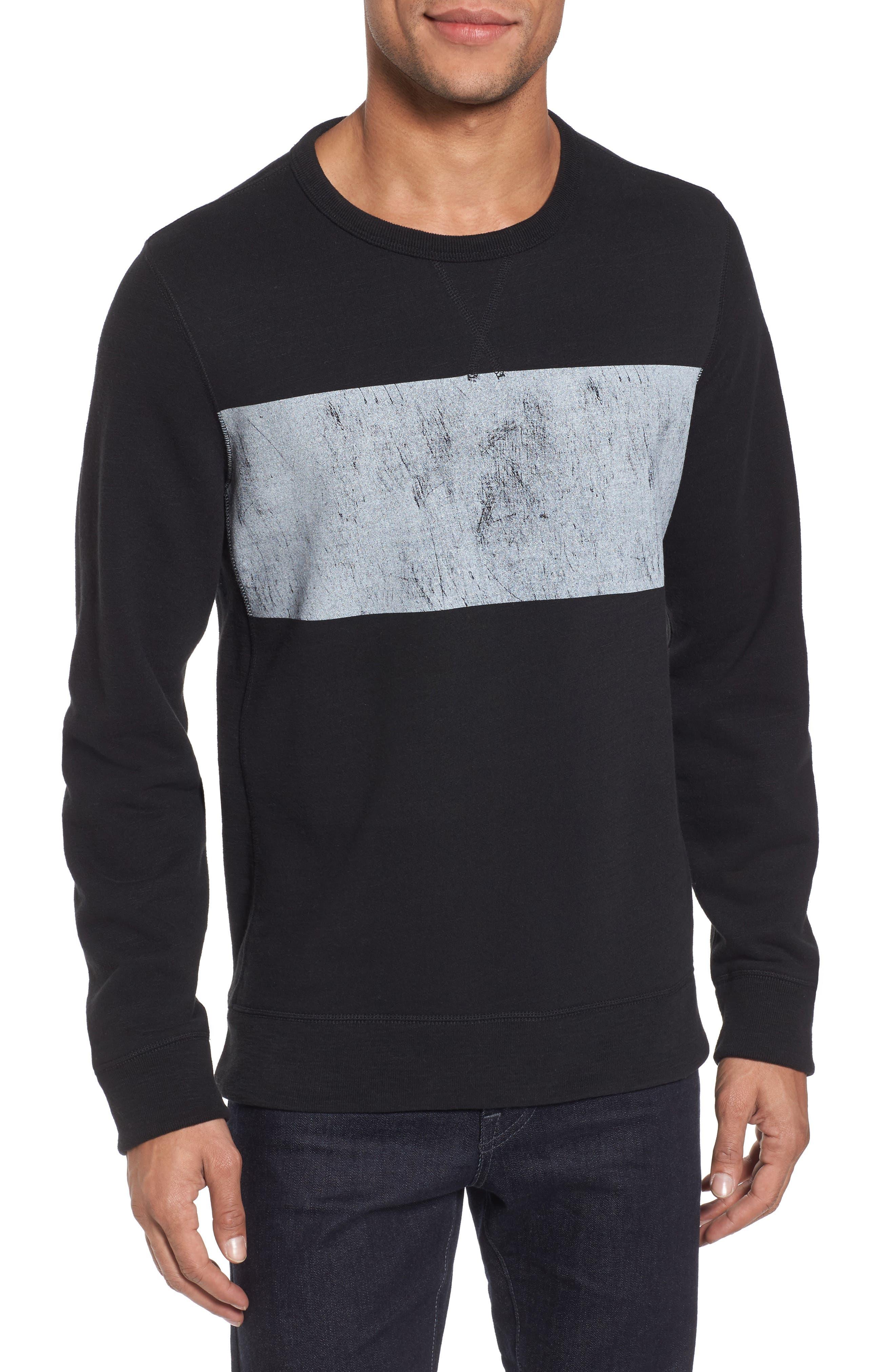 Distressed Print Slim Fit Crewneck T-Shirt,                         Main,                         color, 001