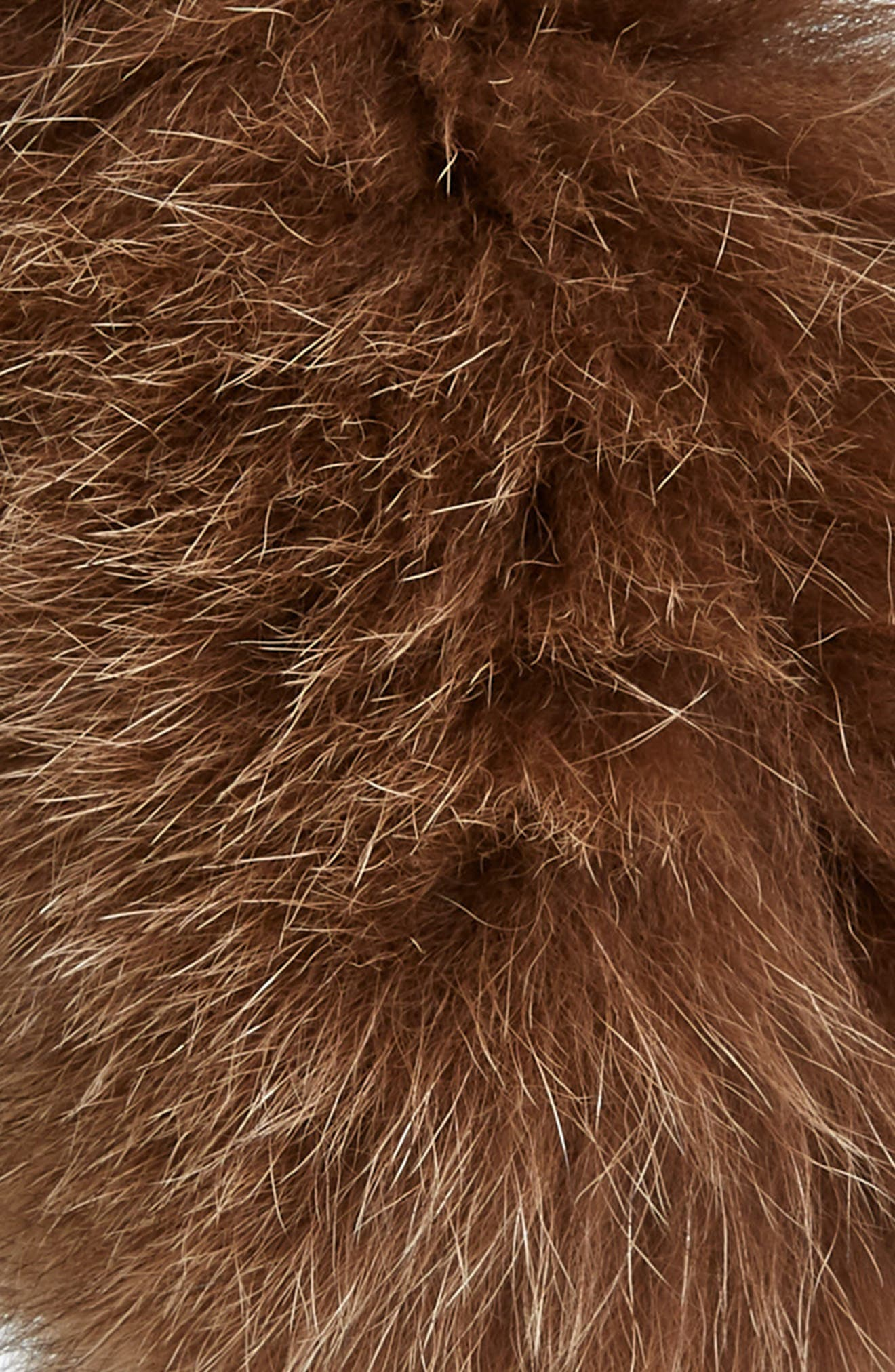 Genuine Fox Fur Earmuffs,                             Alternate thumbnail 2, color,                             SIENNA