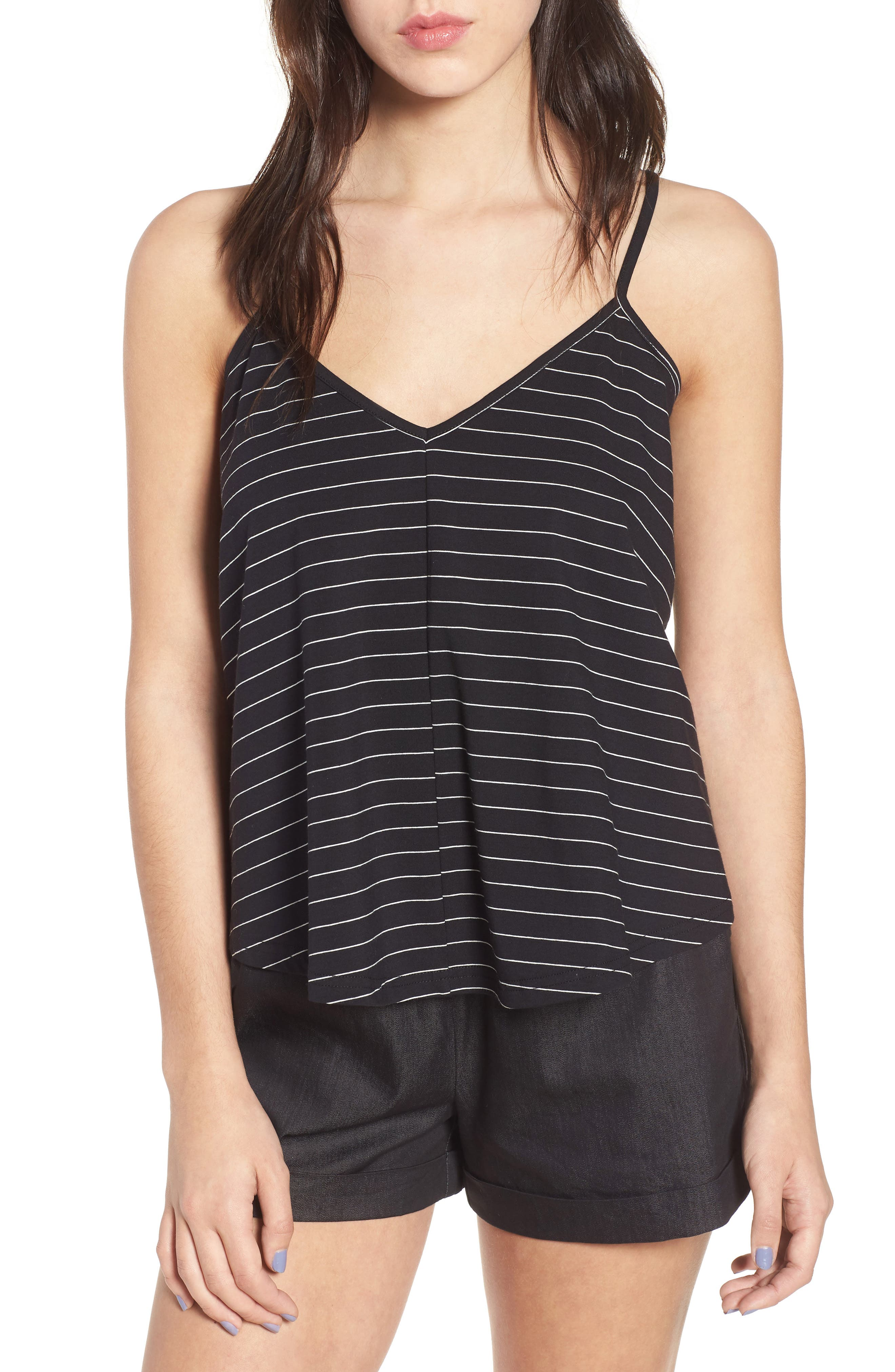 Harlow Stripe Camisole Top,                             Main thumbnail 1, color,                             001