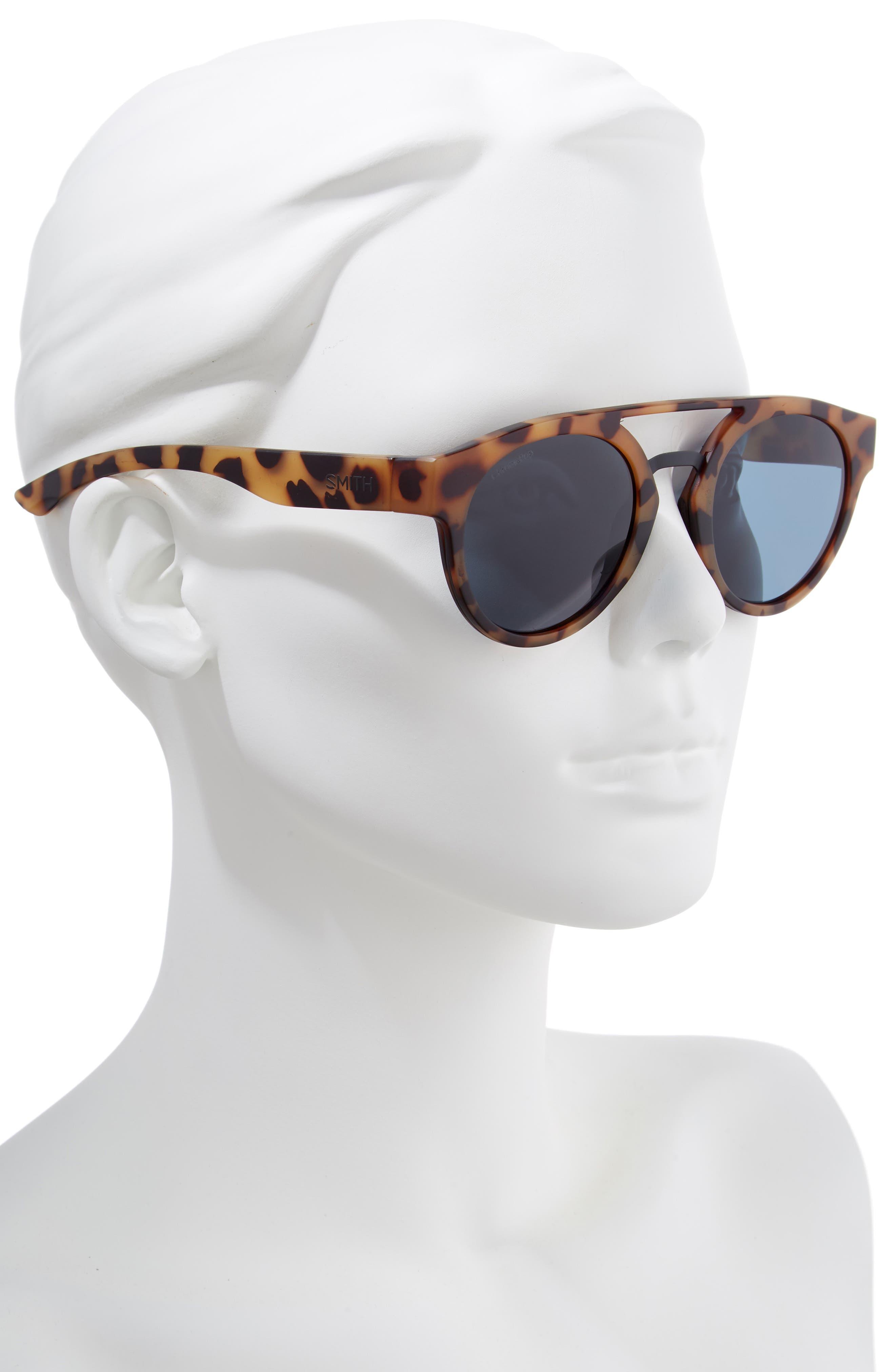 Range 50mm ChromaPop<sup>™</sup> Polarized Sunglasses,                             Alternate thumbnail 2, color,                             MATTE HONEY TORTOISE/ BLACK