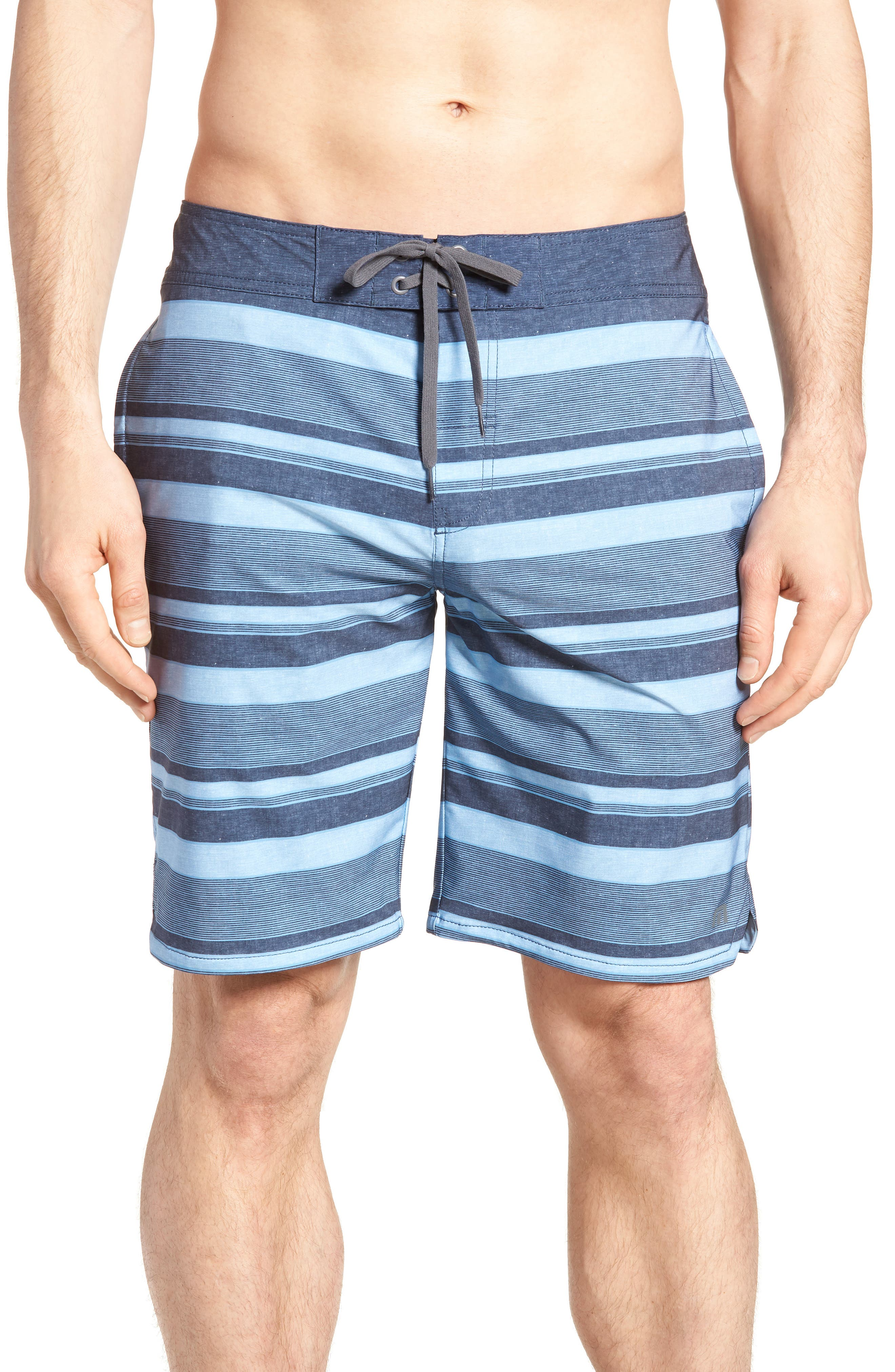 Colinas Regular Fit Board Shorts,                         Main,                         color, HEATHER BLUESTONE