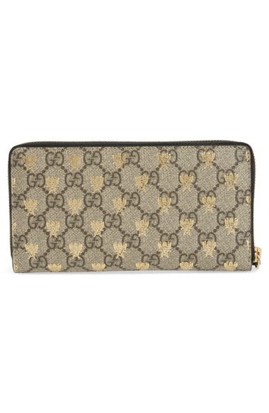 e910b98f756a Gucci Linea A Bee GG Zip-Around Wallet | Nordstrom