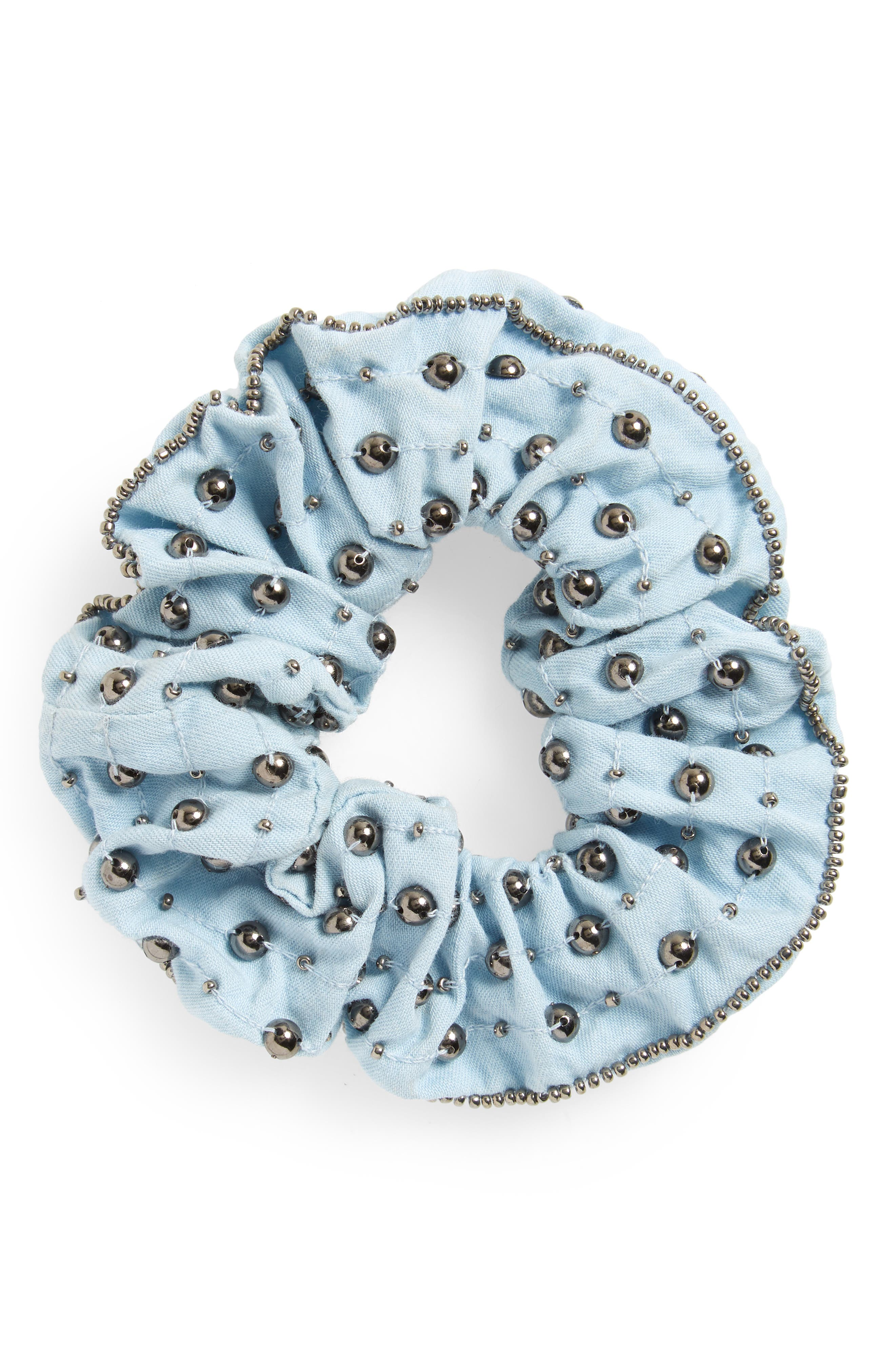 Studded Scrunchie,                             Main thumbnail 1, color,                             461