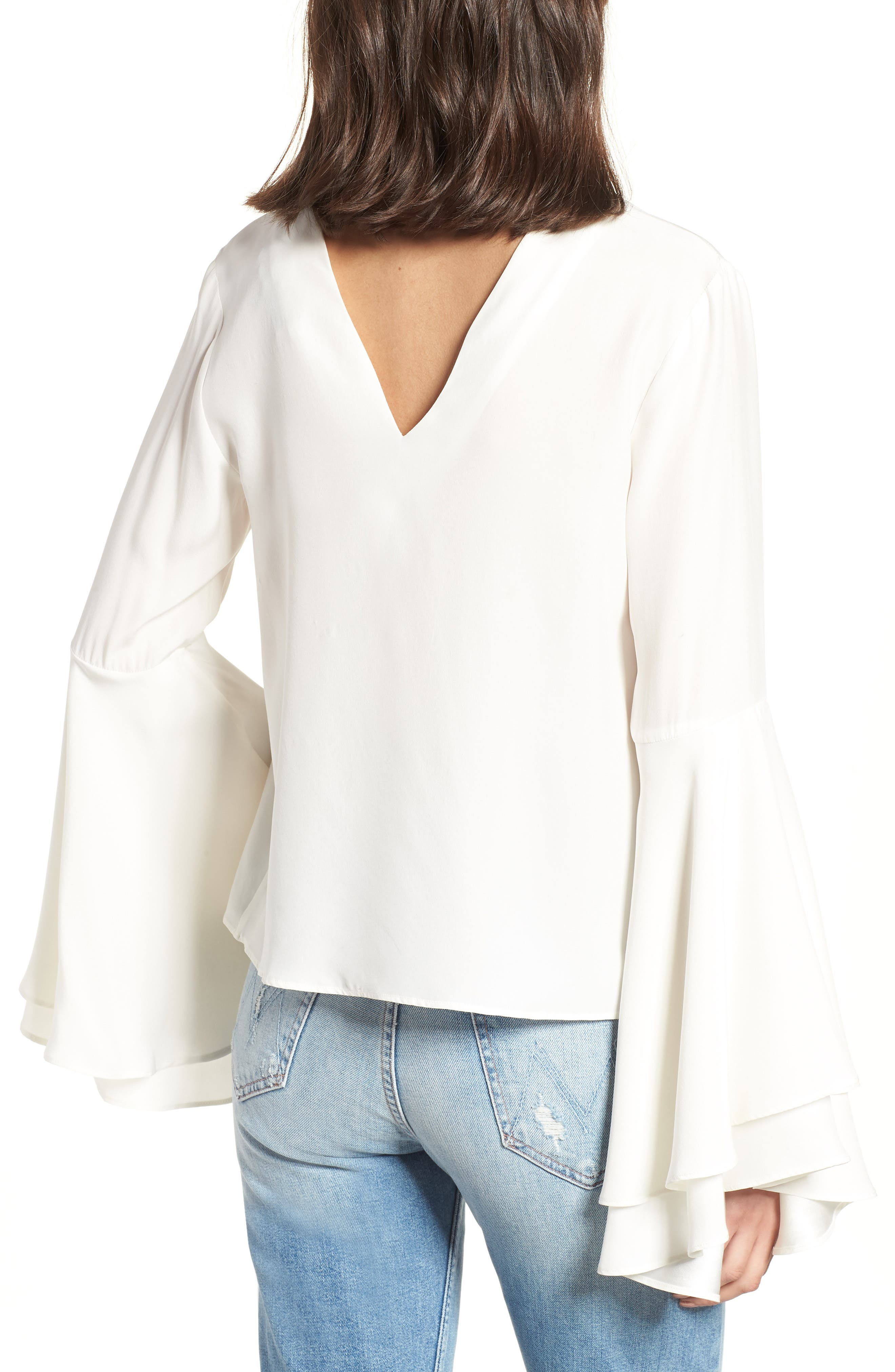 Bell Sleeve Top,                             Alternate thumbnail 2, color,                             908
