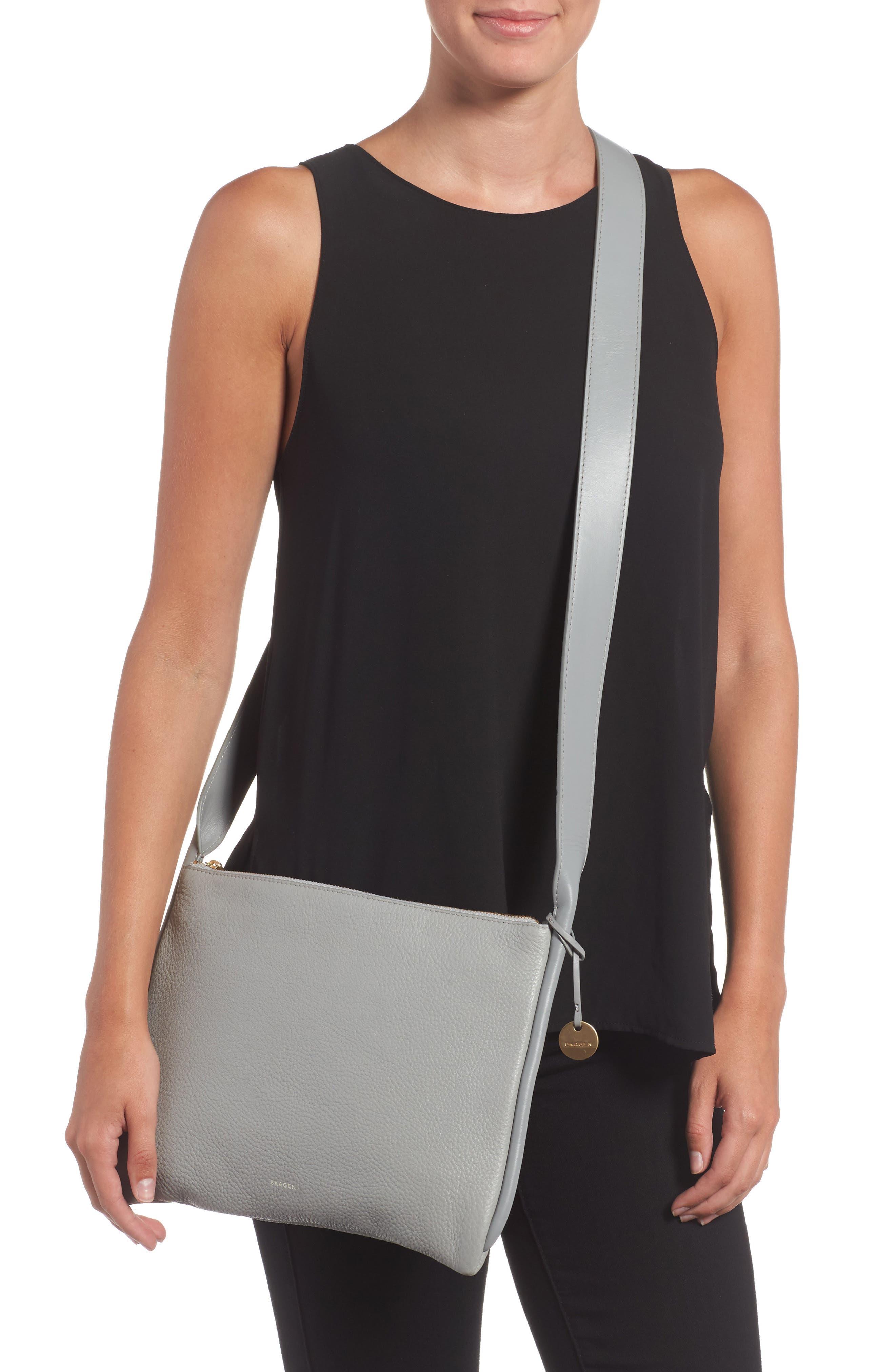 Slim Anesa Leather Crossbody Bag,                             Alternate thumbnail 2, color,                             021