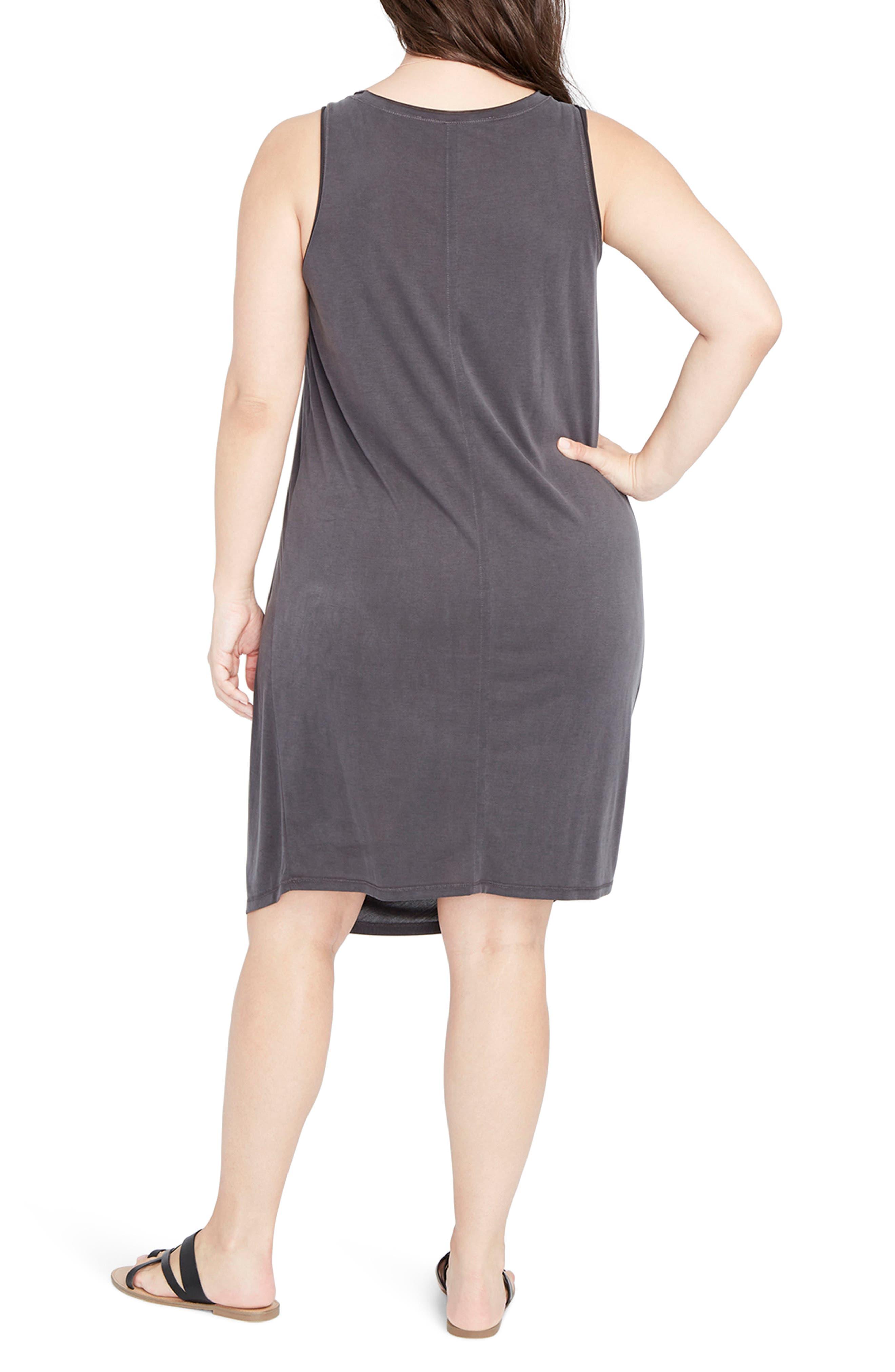 Drape Front Shift Dress,                             Alternate thumbnail 2, color,                             001