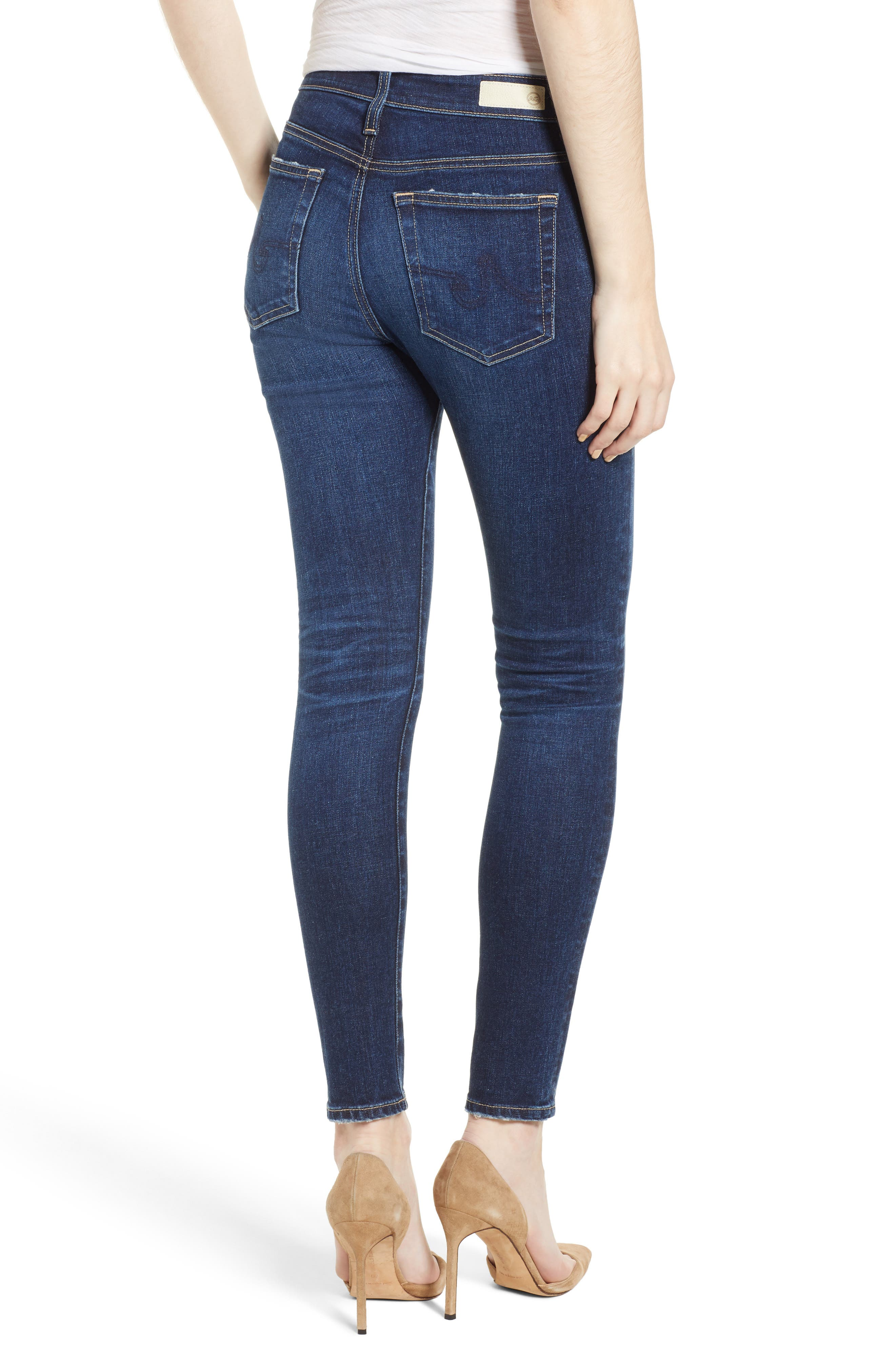 The Farrah Ankle Skinny Jeans,                             Alternate thumbnail 2, color,                             07 YEARS ASTRO AZURE