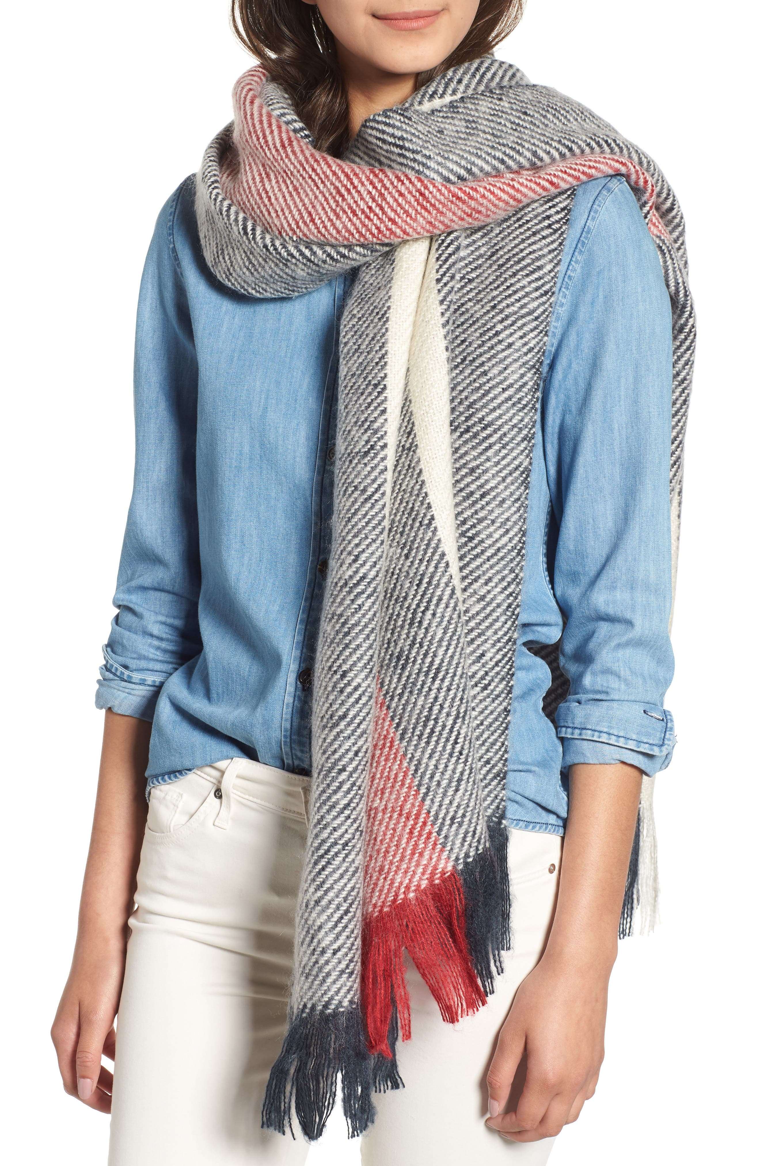 BARBOUR,                             Munro Scarf,                             Main thumbnail 1, color,                             410
