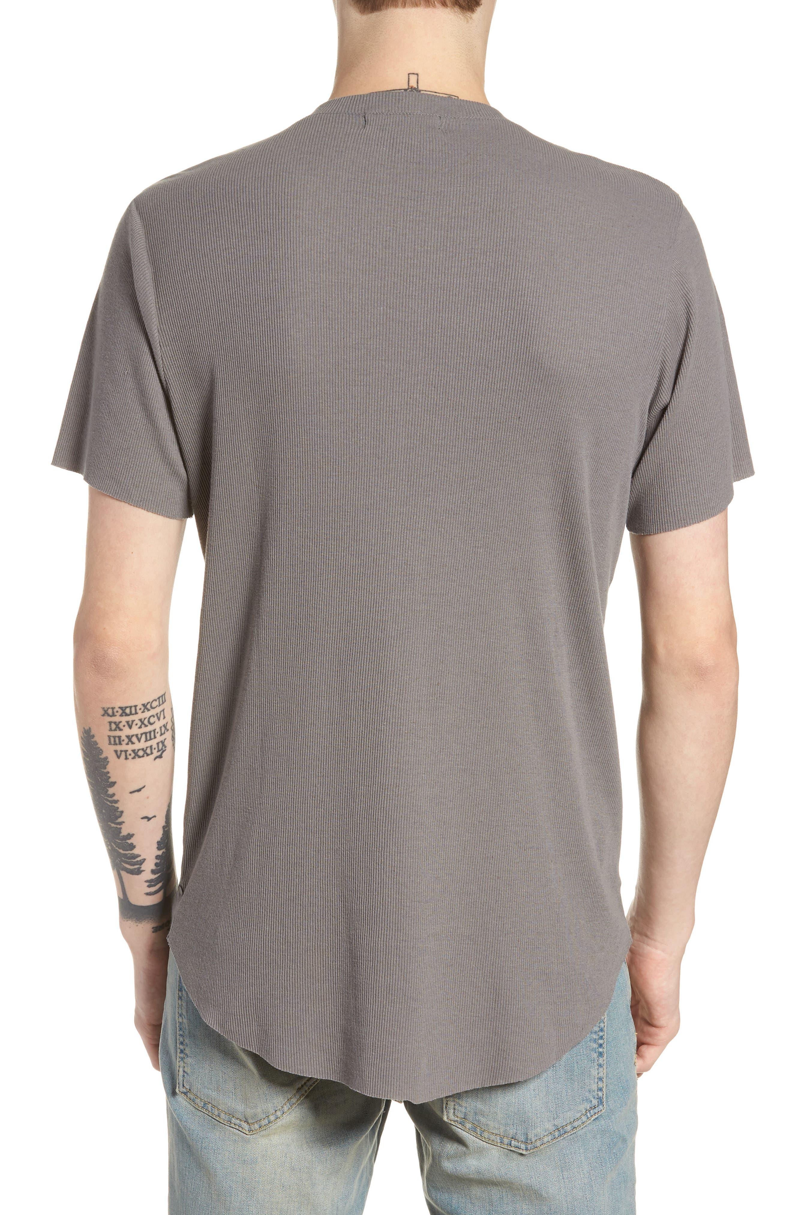 Ribbed Henley T-Shirt,                             Alternate thumbnail 4, color,