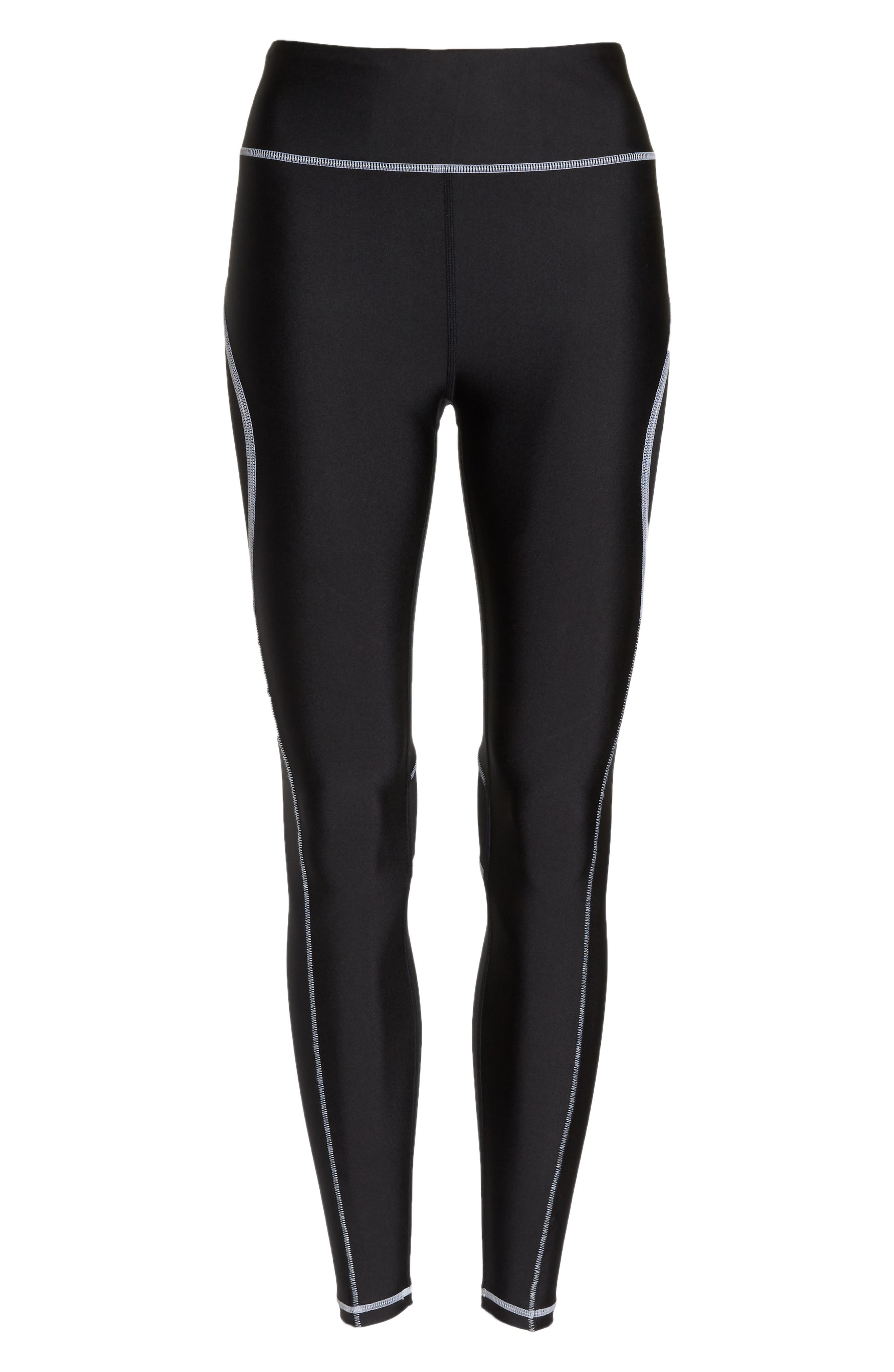 Surf Tights,                             Alternate thumbnail 7, color,                             BLACK/ WHITE