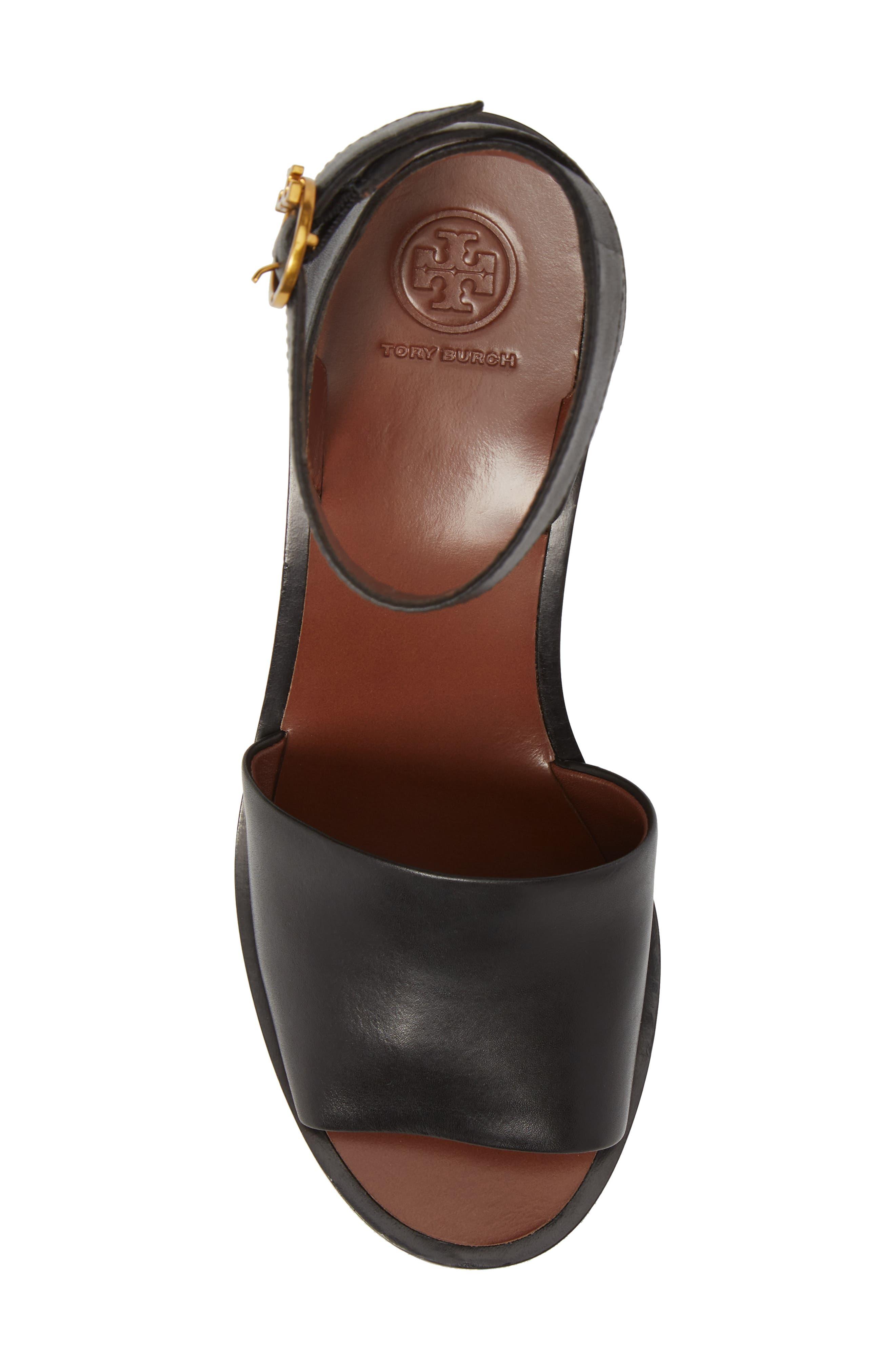 Camilla Embroidered Platform Sandal,                             Alternate thumbnail 5, color,