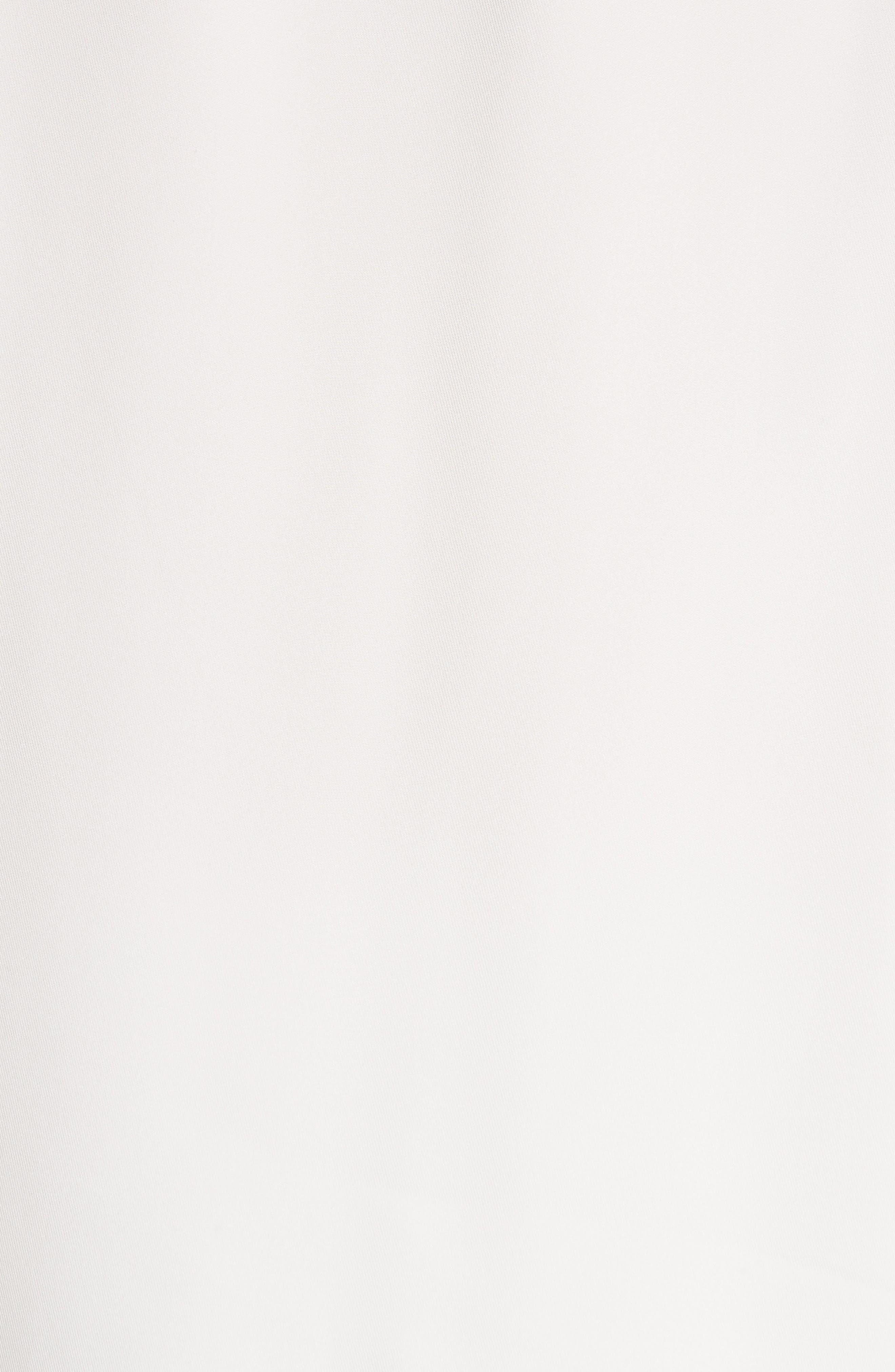 Bateau Neck Silk Blouse,                             Alternate thumbnail 5, color,                             100
