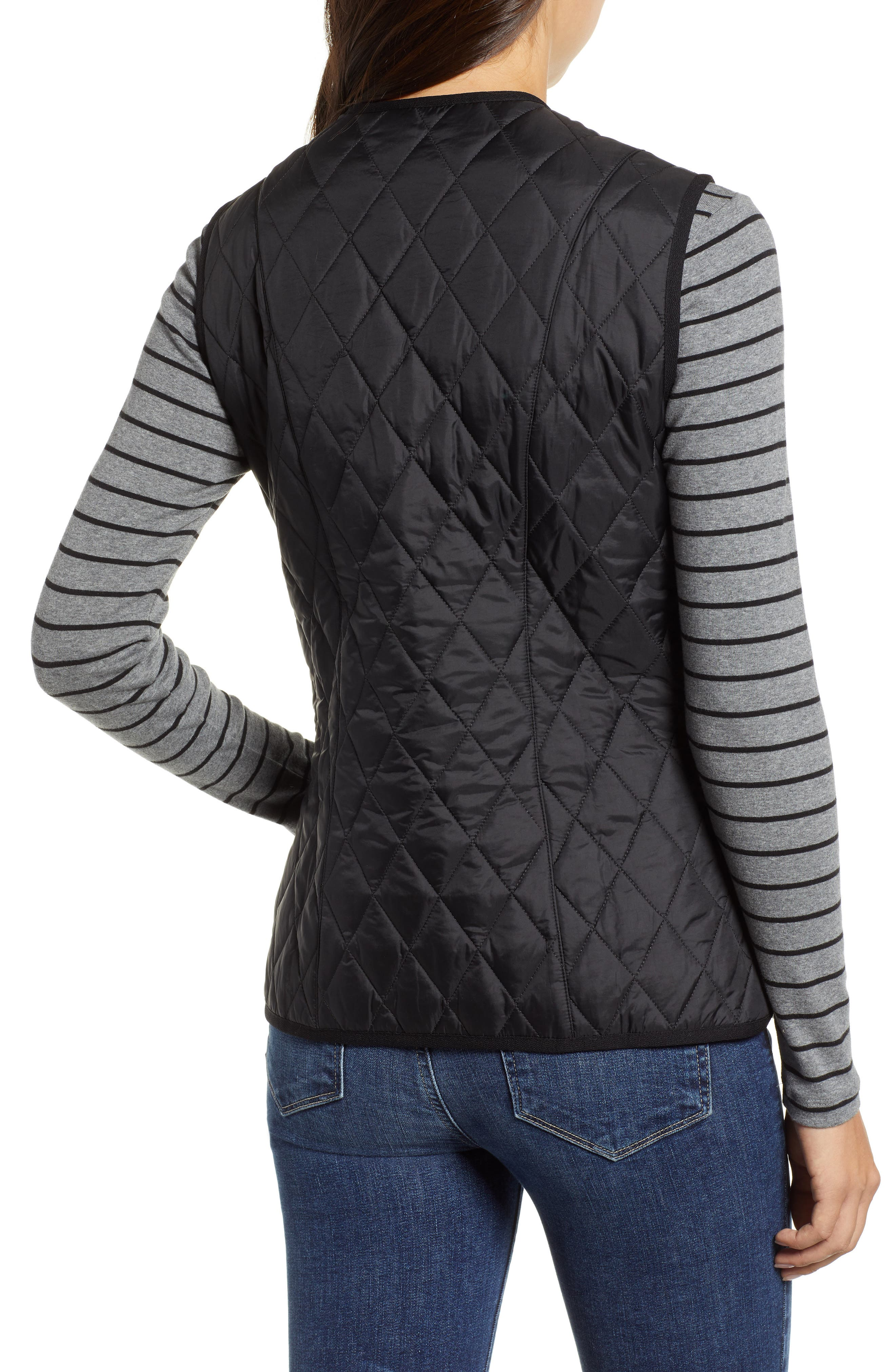 Betty Quilted Vest,                             Alternate thumbnail 2, color,                             001