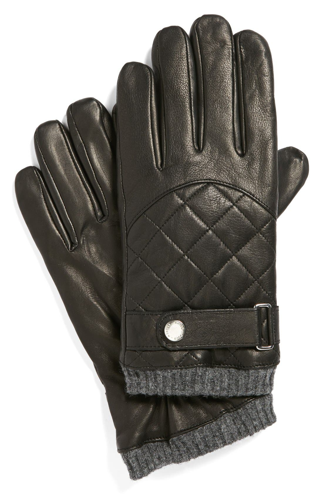 Quilted Racing Gloves,                             Main thumbnail 1, color,                             001