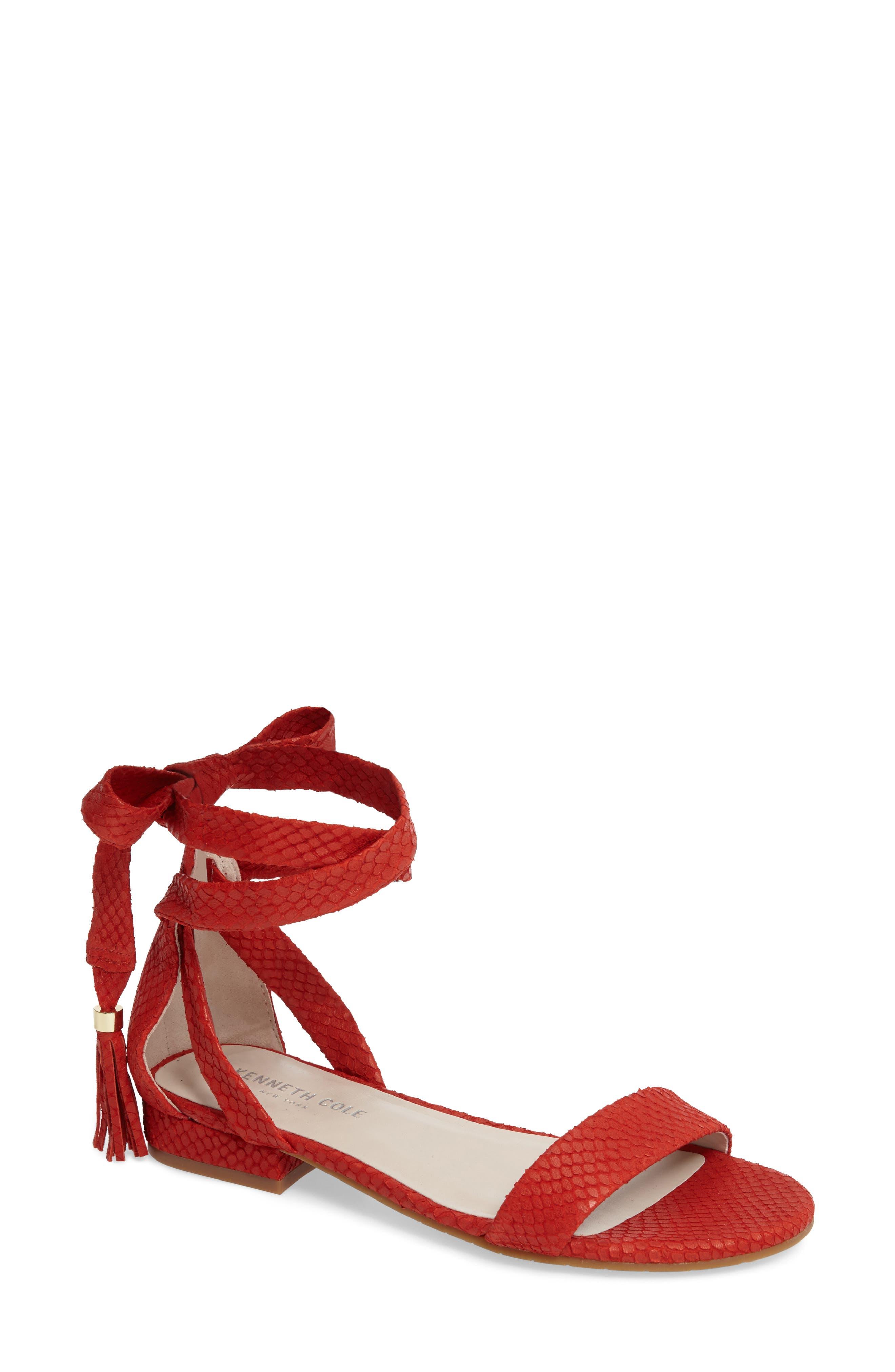Valen Tassel Lace-Up Sandal,                             Main thumbnail 10, color,