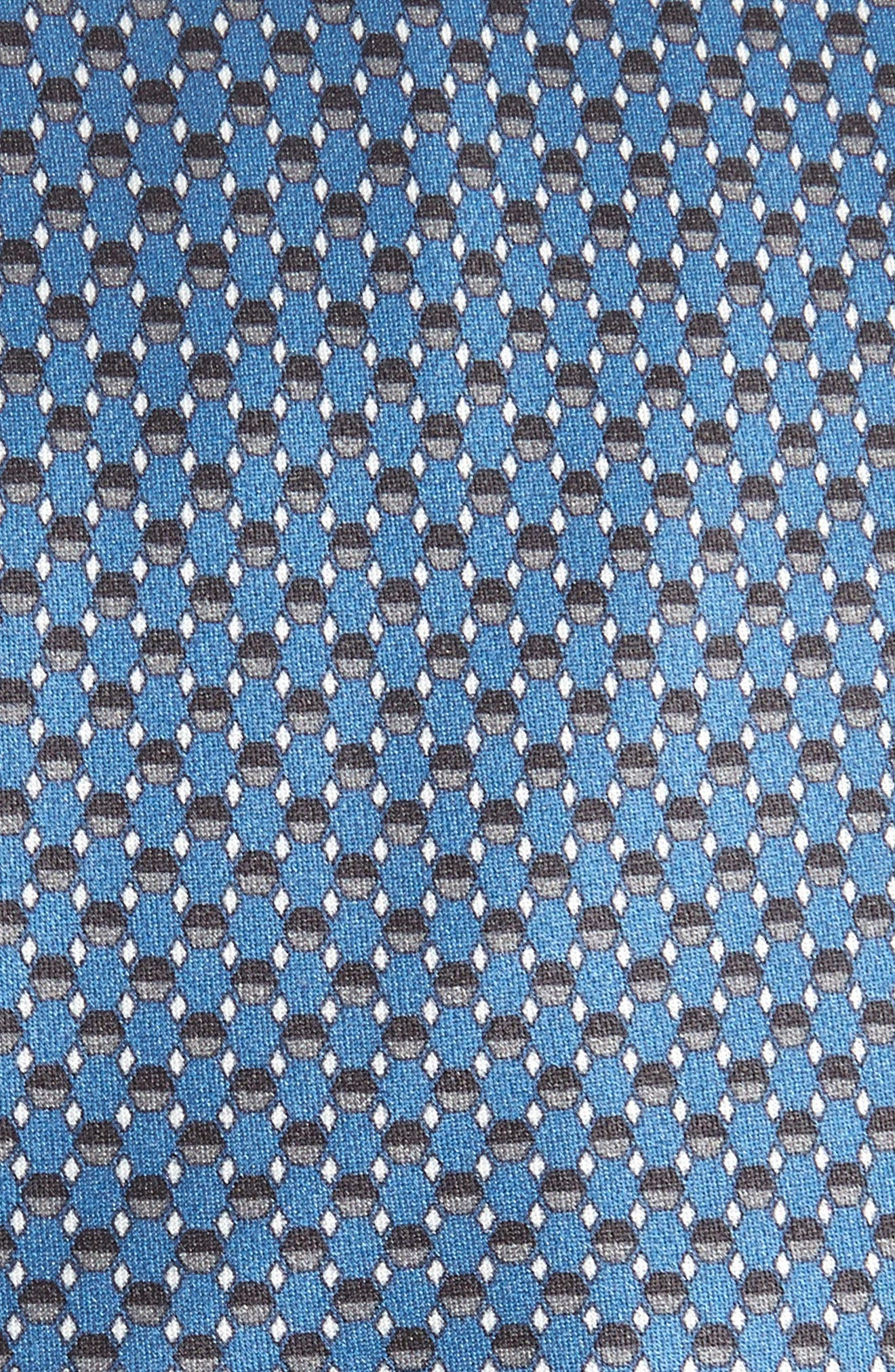 Geometric Silk Tie,                             Alternate thumbnail 2, color,                             BLUE/ GREY