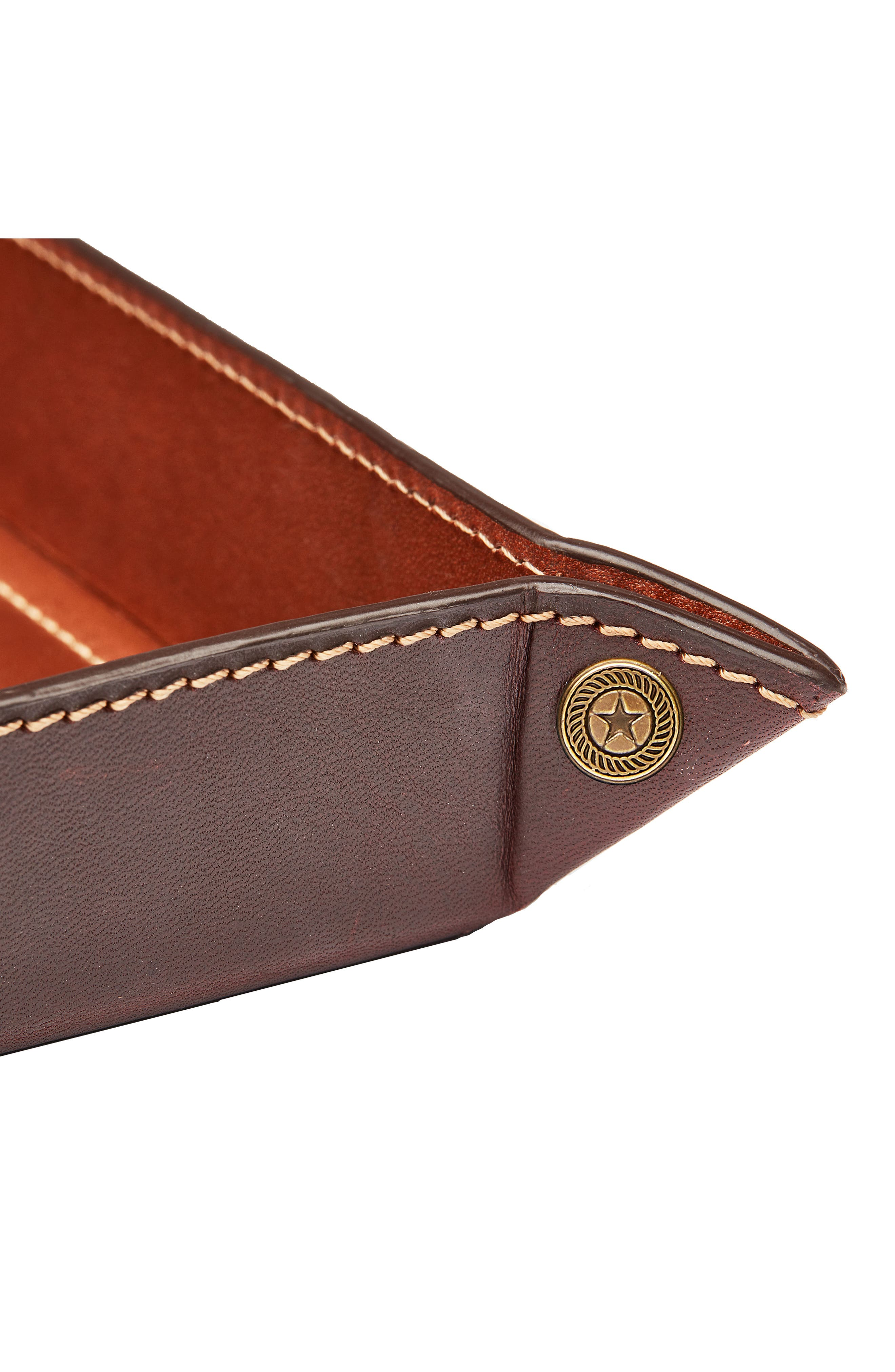 Small Pinched Leather Valet Tray,                             Alternate thumbnail 3, color,                             230