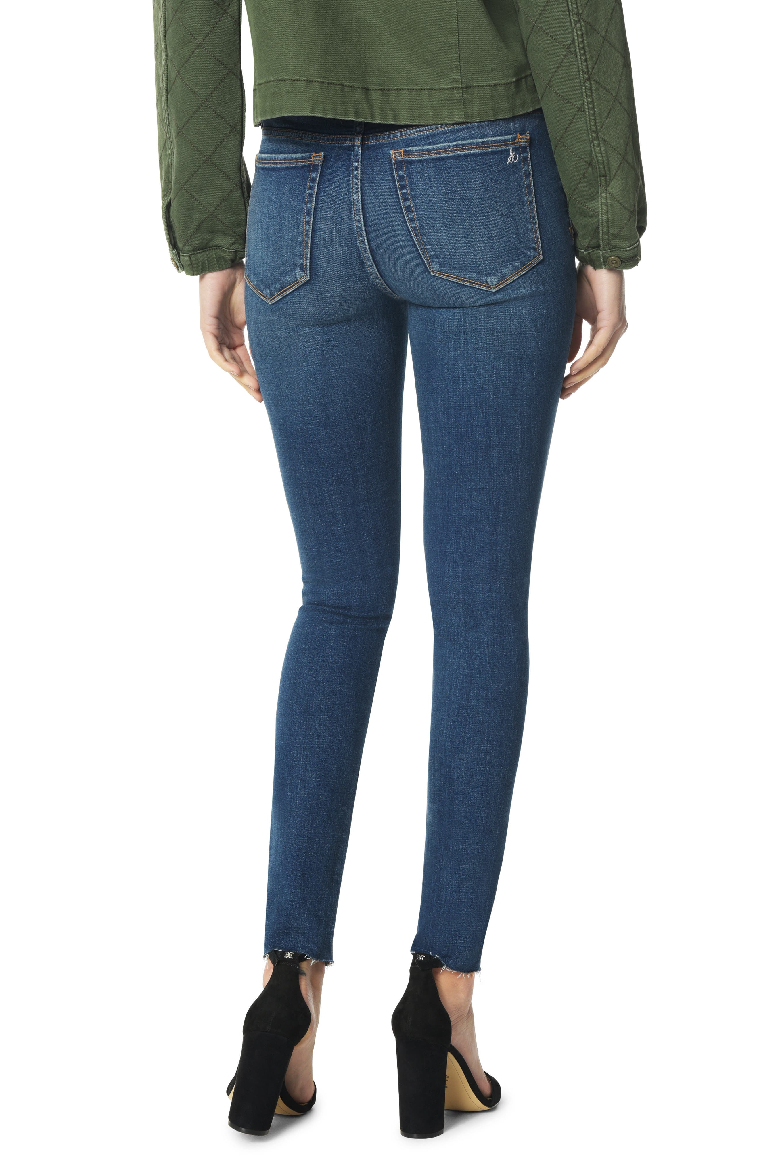 The Kitten Studded Ankle Skinny Jeans,                             Alternate thumbnail 2, color,                             HEIDI