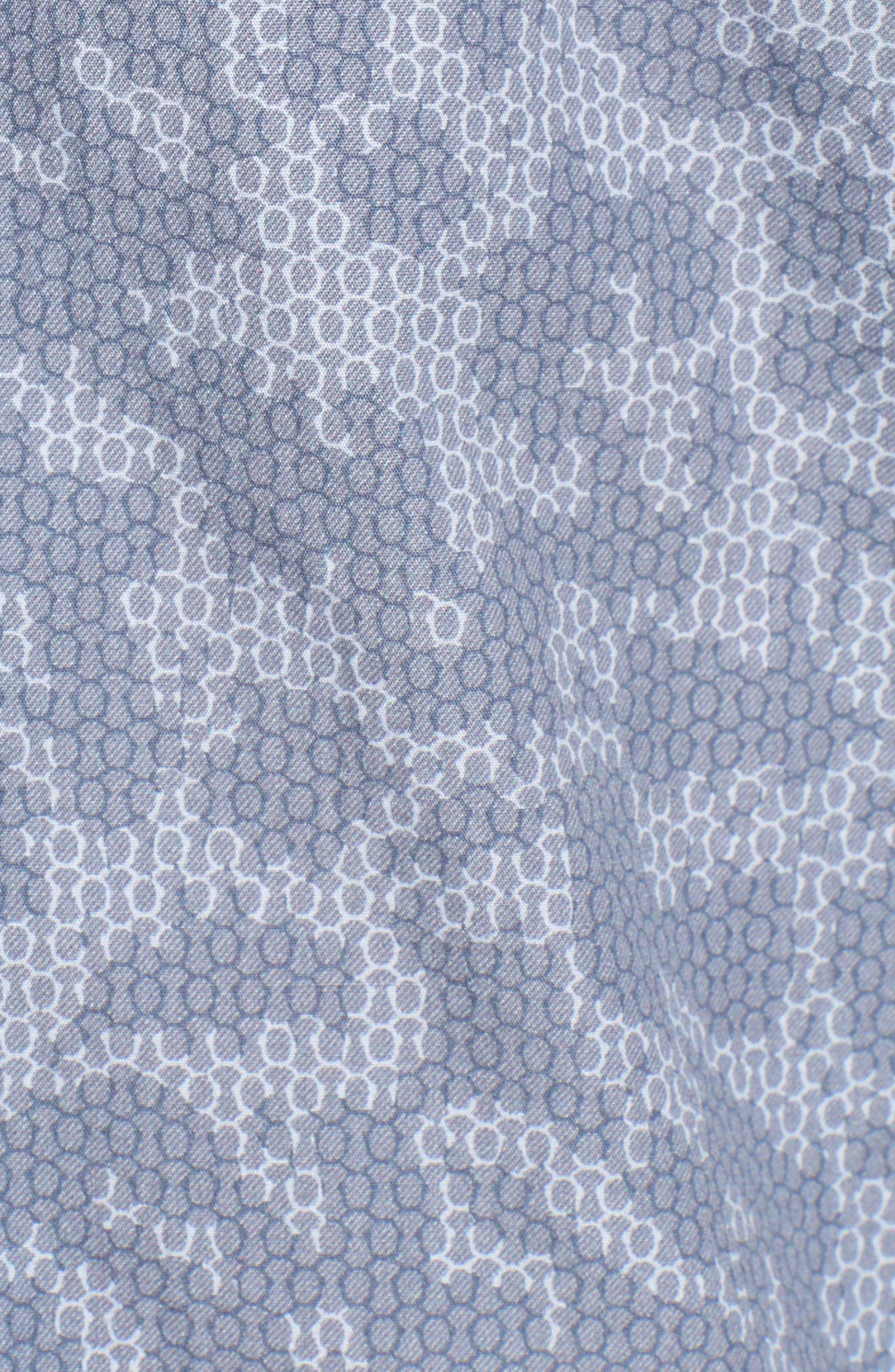 Print Woven Shirt,                             Alternate thumbnail 5, color,                             415