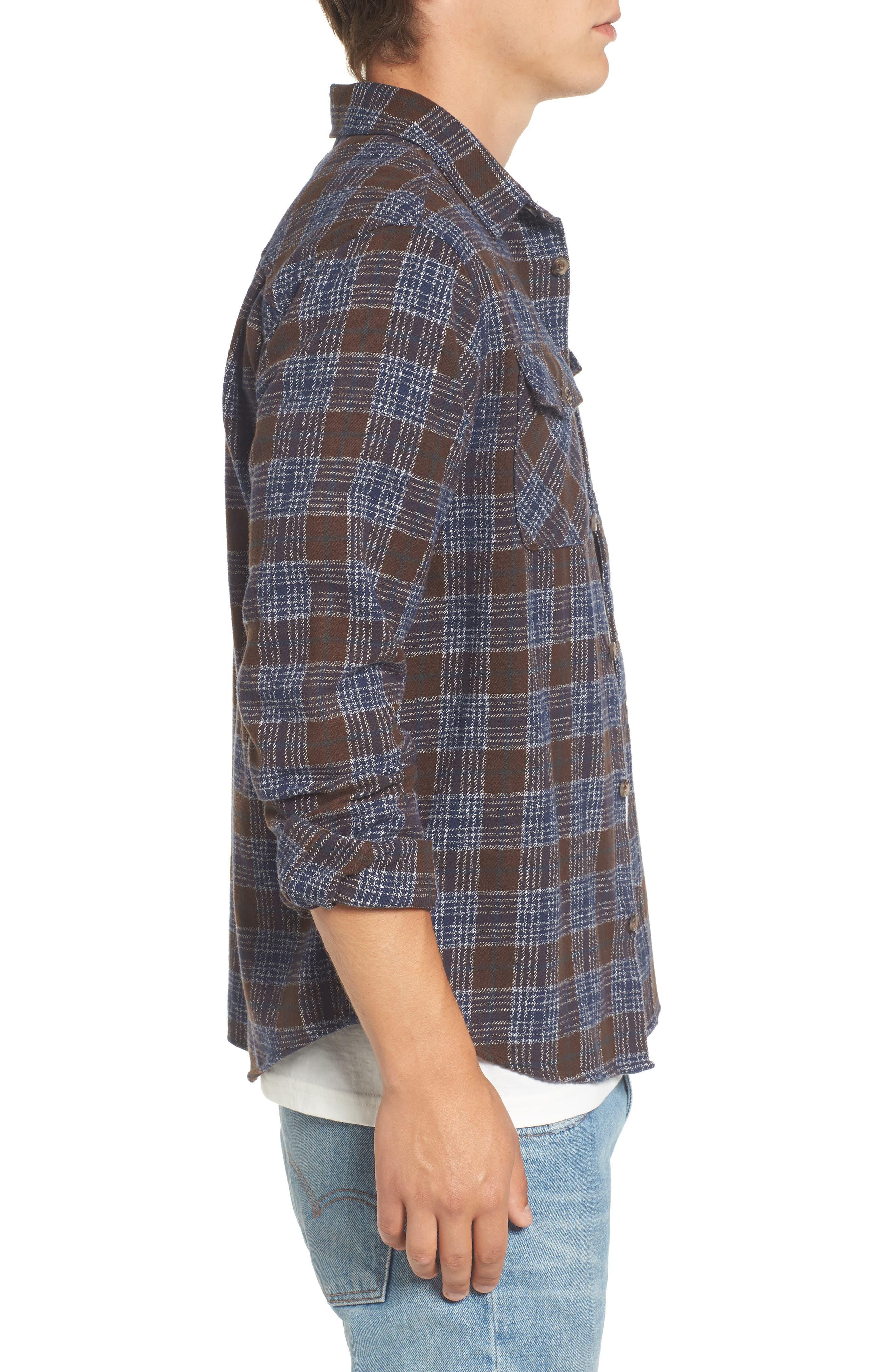 'That'll Work' Trim Fit Plaid Flannel Shirt,                             Alternate thumbnail 21, color,