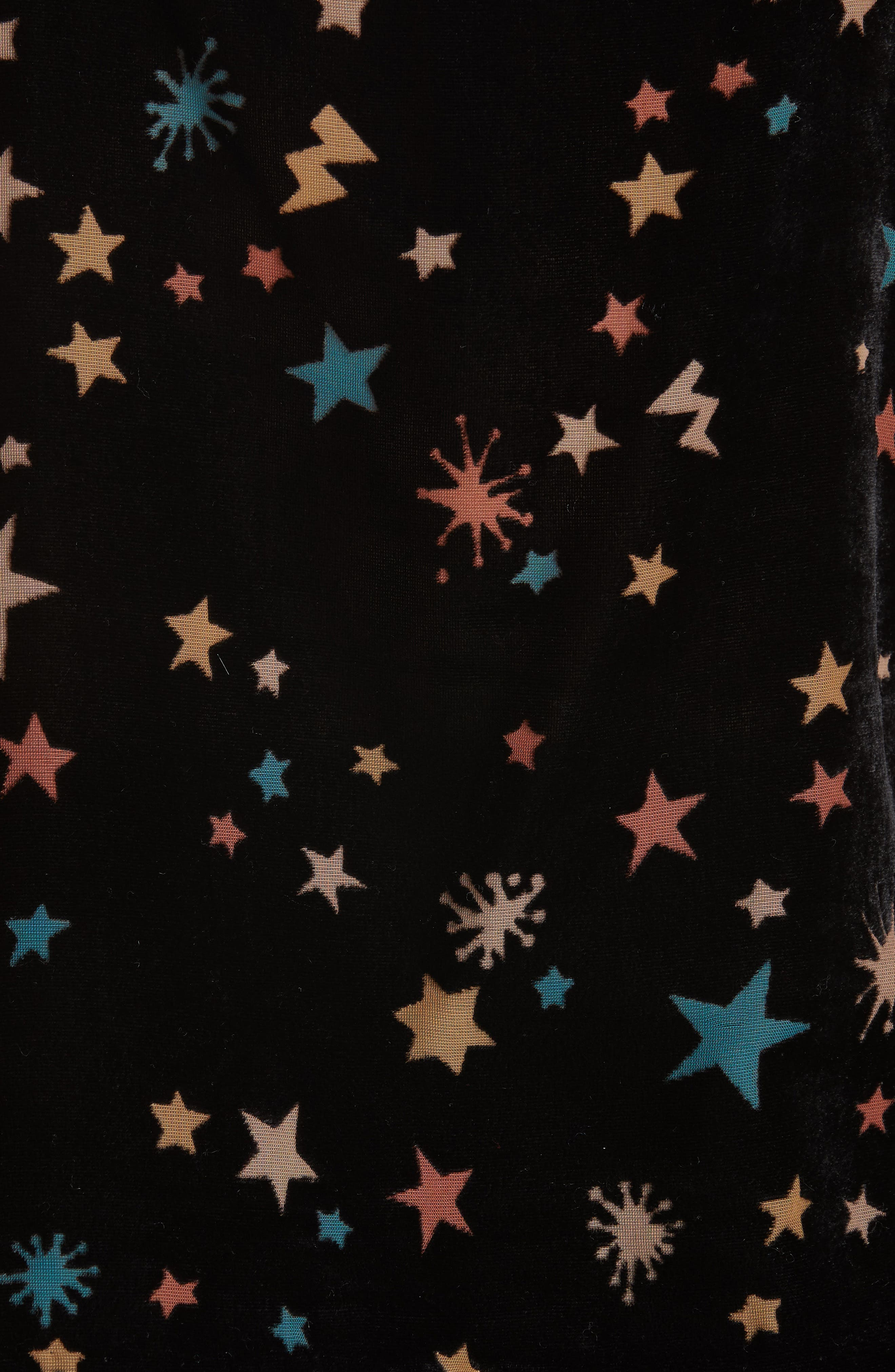 Colour by Numbers Cleira Star Detail Velvet Camisole,                             Alternate thumbnail 5, color,                             00-BLACK