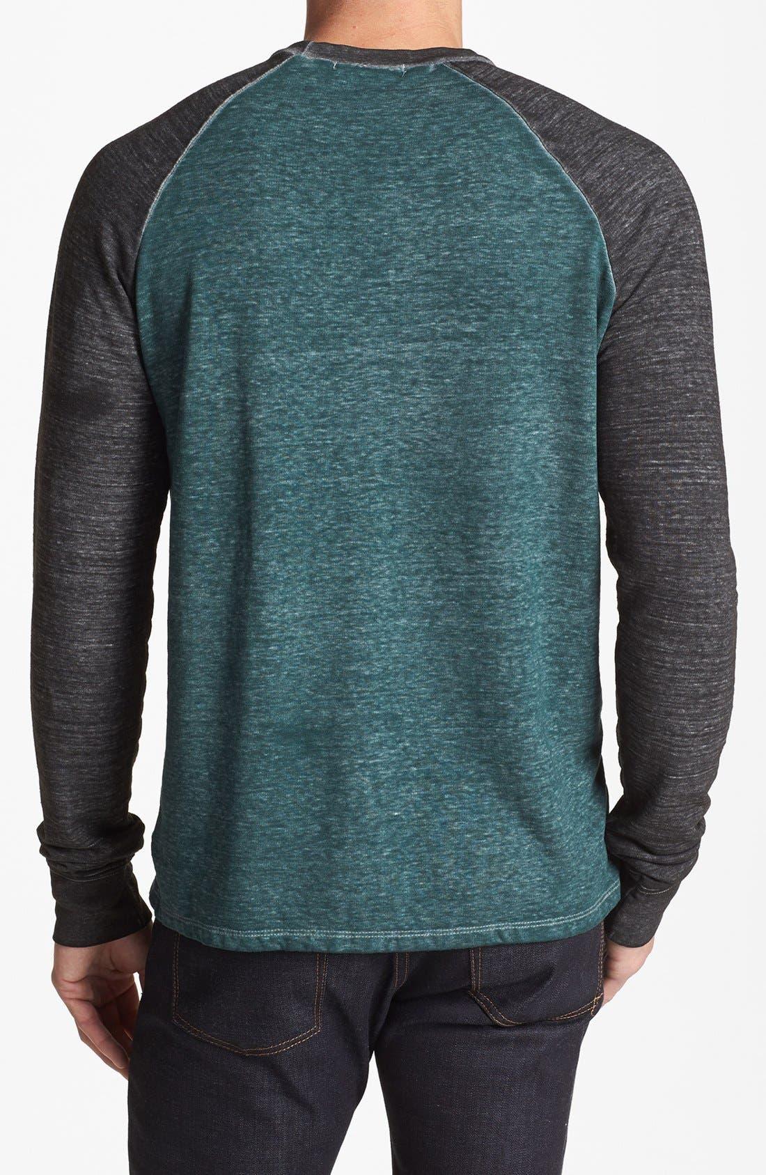 Washed Raglan Sleeve Sweatshirt,                             Alternate thumbnail 12, color,